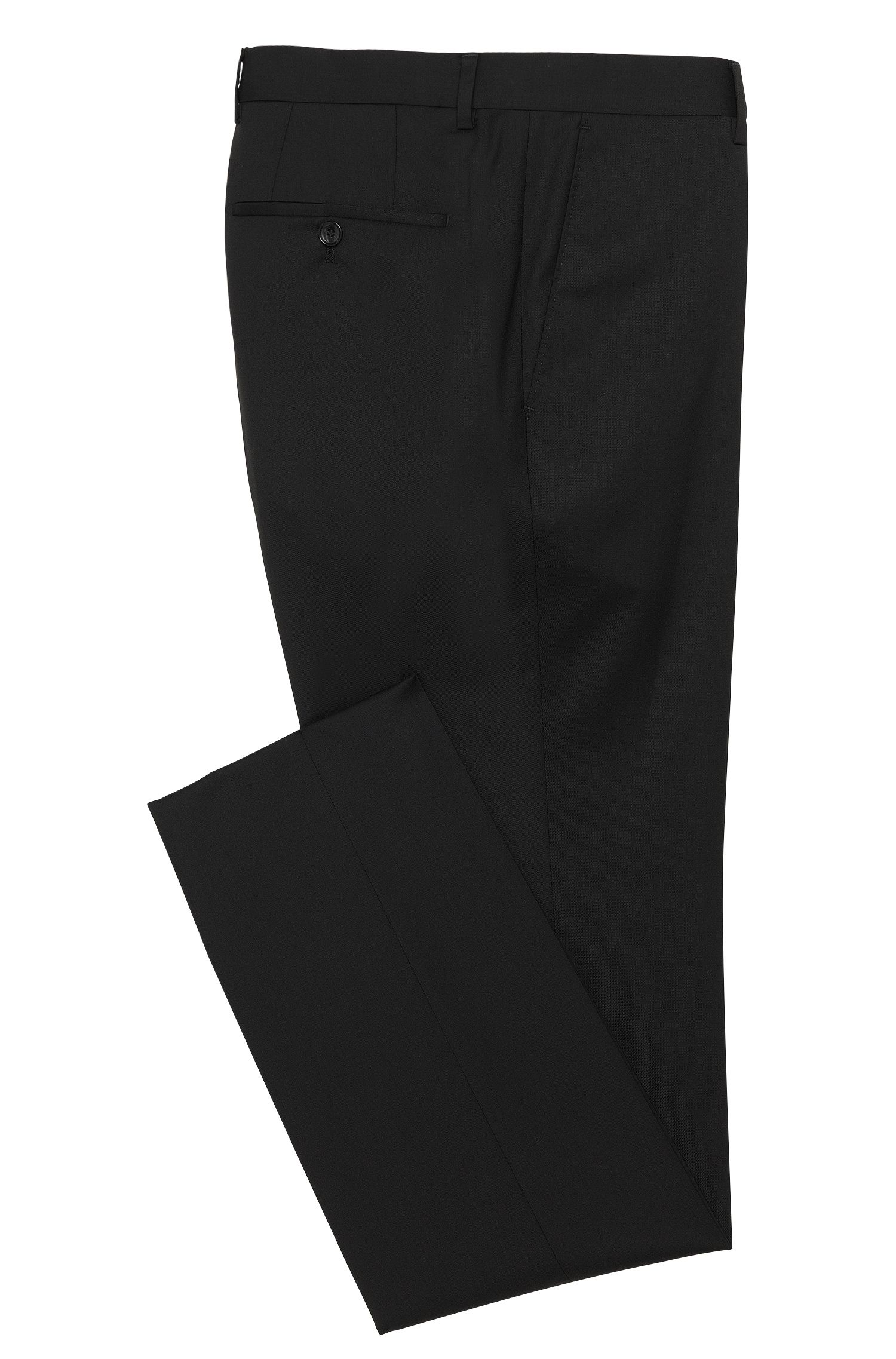 Unifarbene Slim-Fit Tailored Hose aus reiner Schurwolle: 'T-Glover1'