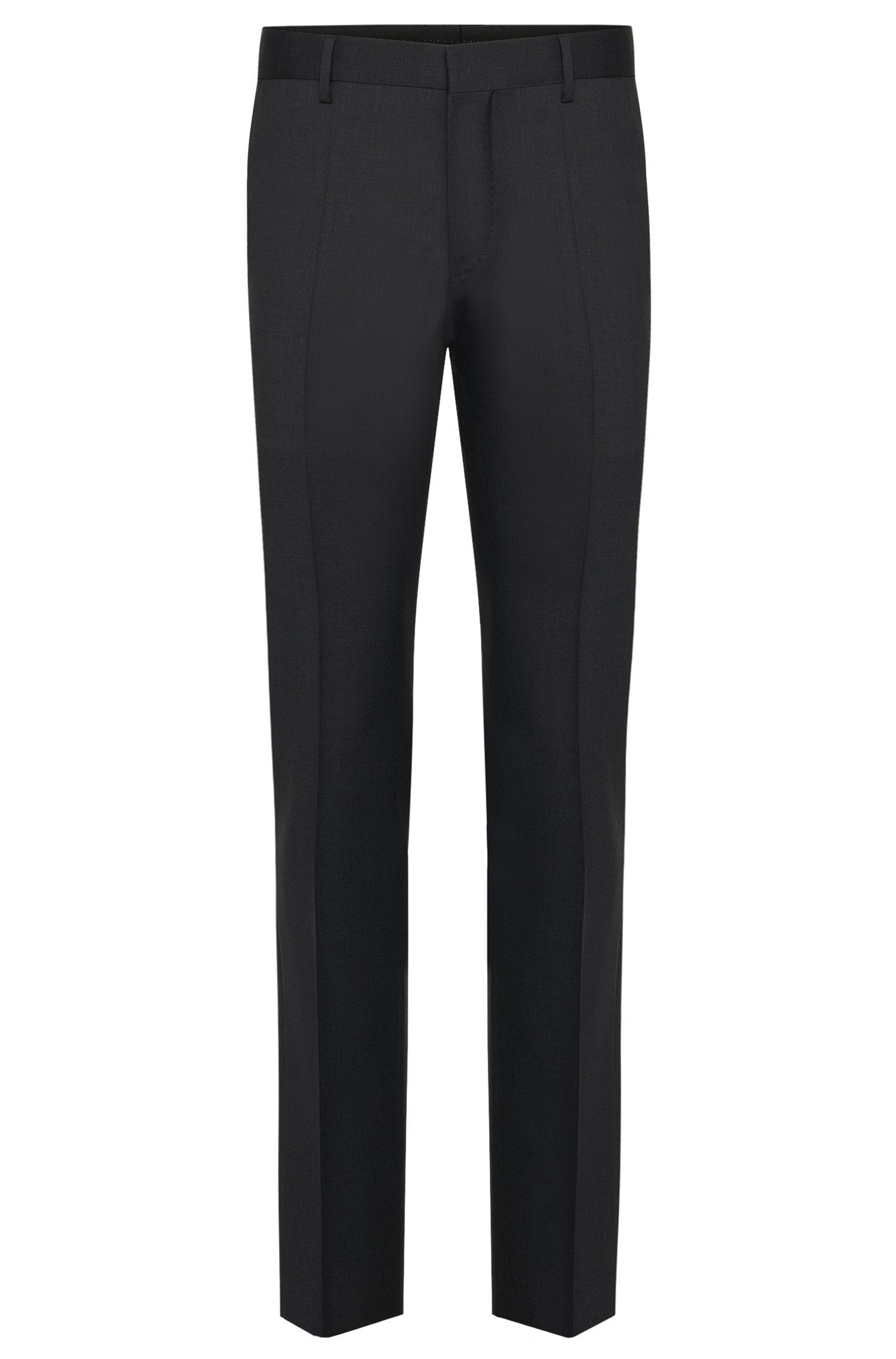 Effen slim-fit broek van zuivere scheerwol uit de Tailored-collectie: 'T-Glover1'
