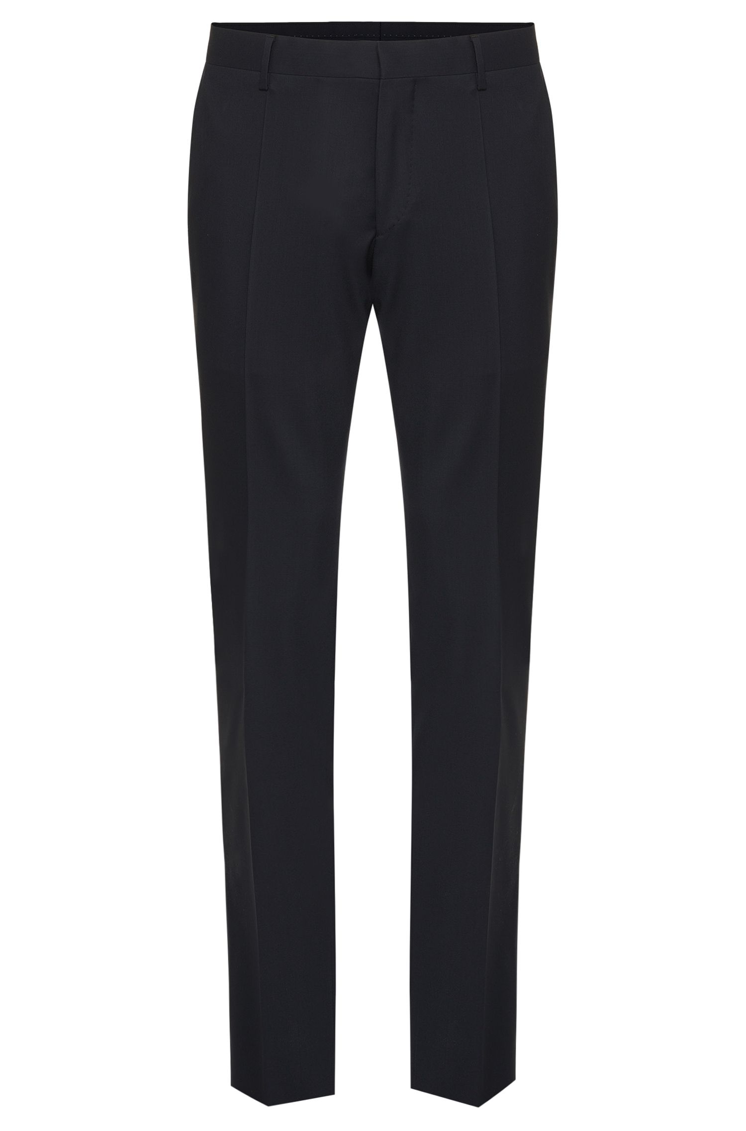 Plain slim-fit Tailored trousers in pure new wool: 'T-Glover1'