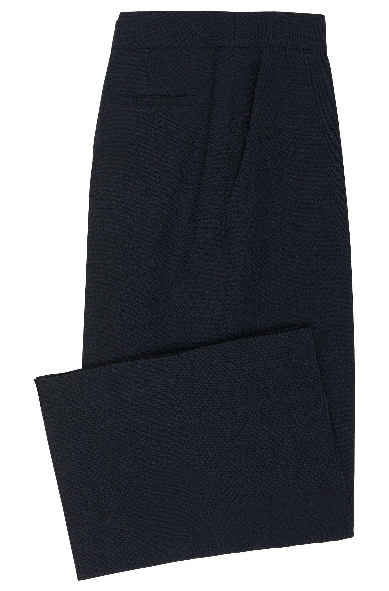Jupe-culotte en viscose mélangée à teneur en laine vierge: «Teliana»