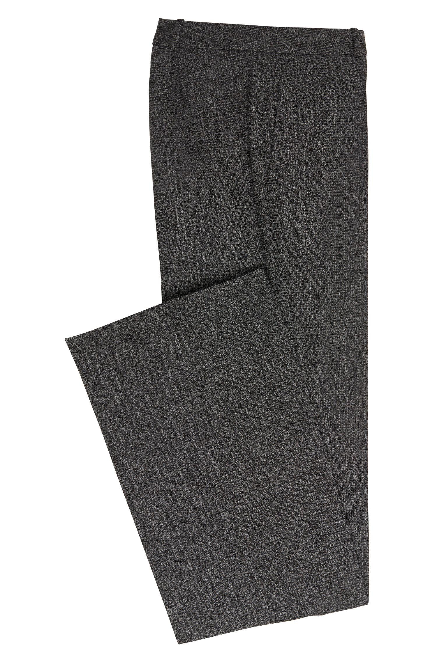 Regular-Fit Hose aus elastischer Schurwolle mit Bootcut: 'Tusini1'