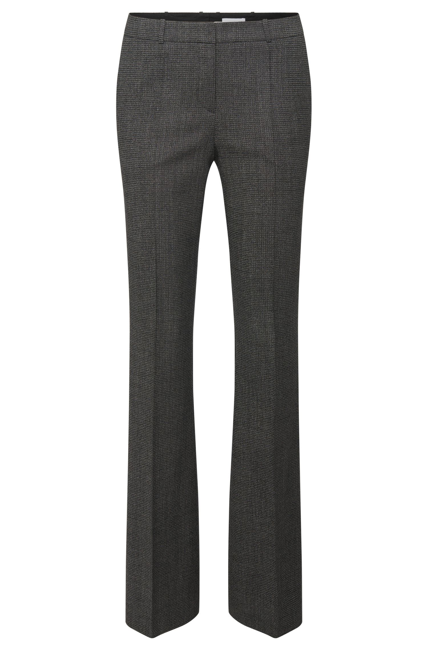 Regular-fit trousers with a boot cut in stretchy new wool: 'Tusini1'