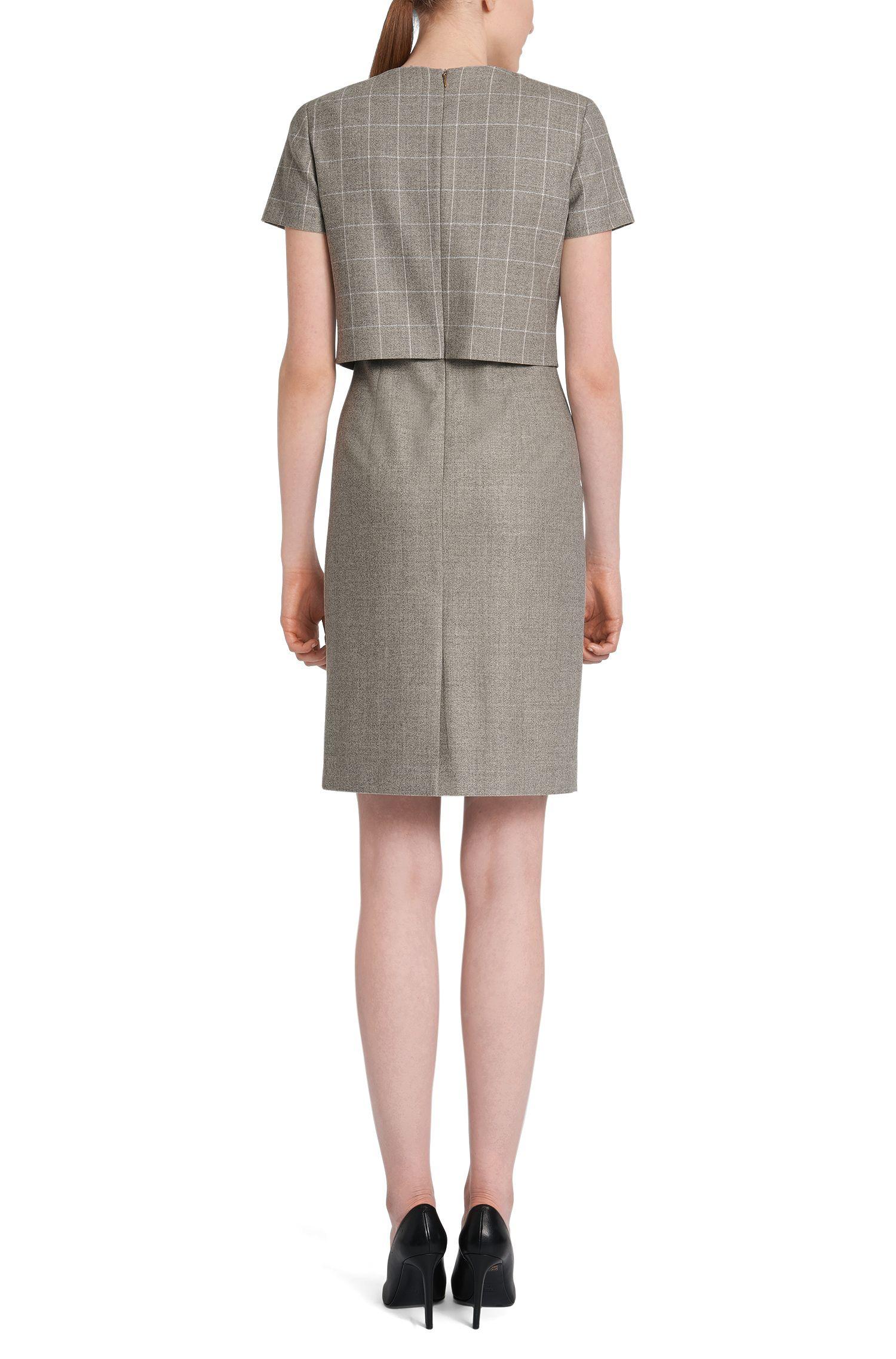Kleid aus elastischer Schurwolle im Lagen-Look: 'Decara'