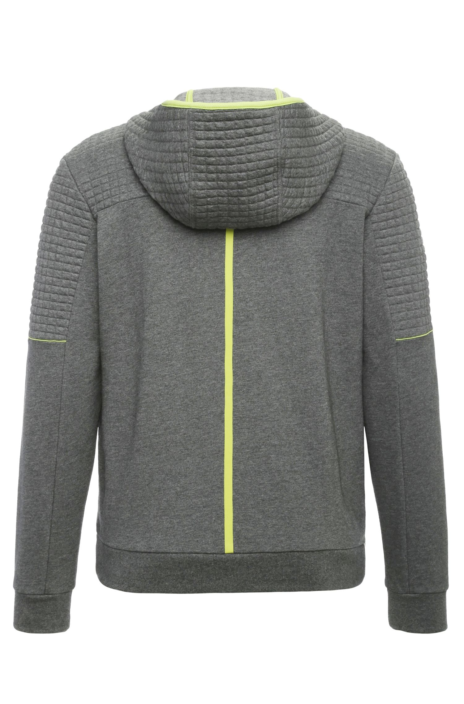 Regular-Fit Sweatshirt-Jacke aus Baumwolle: ´Saggy 1`