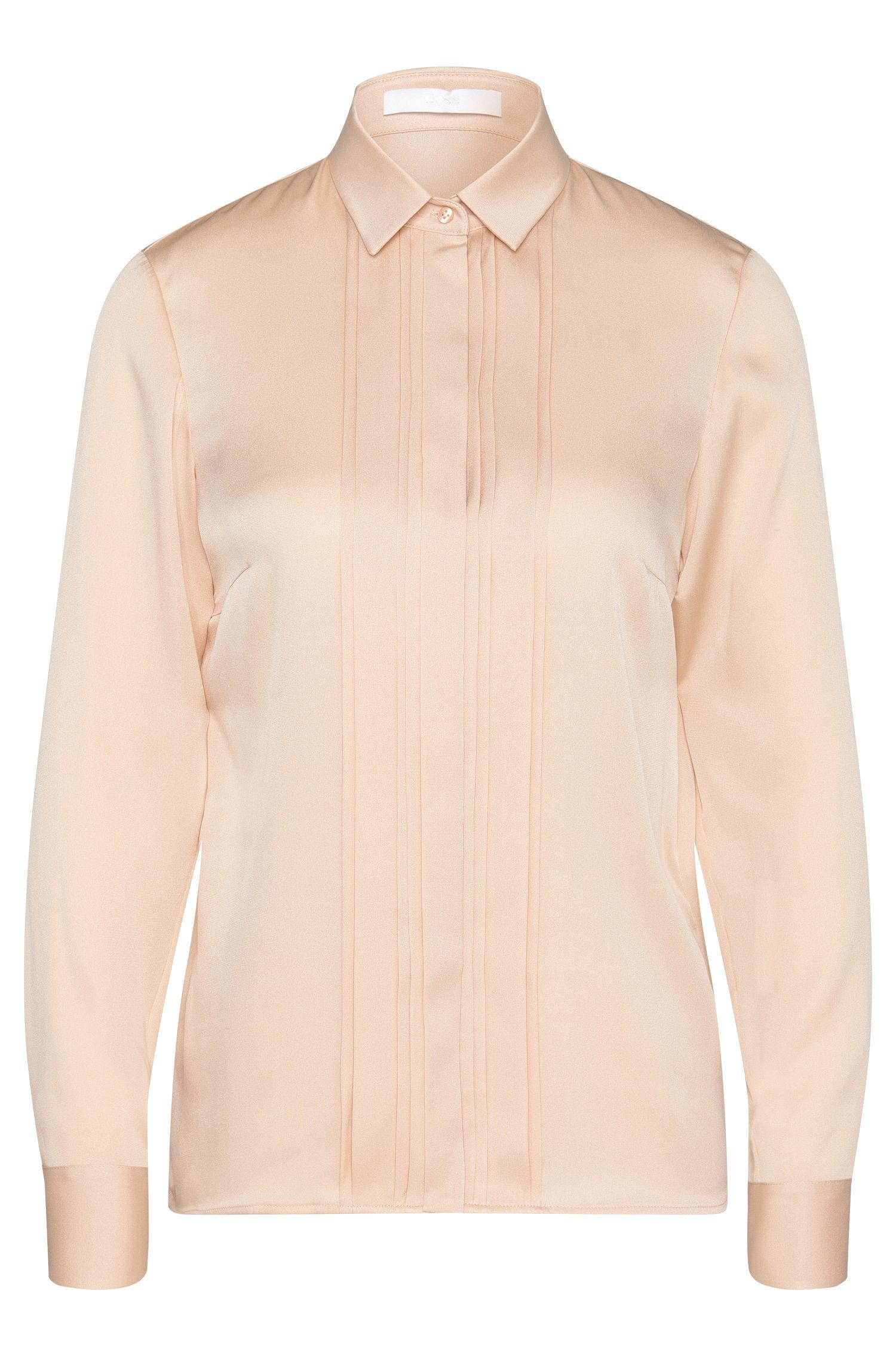 Bluse aus elastischer Seide mit Besatz: 'Birana'