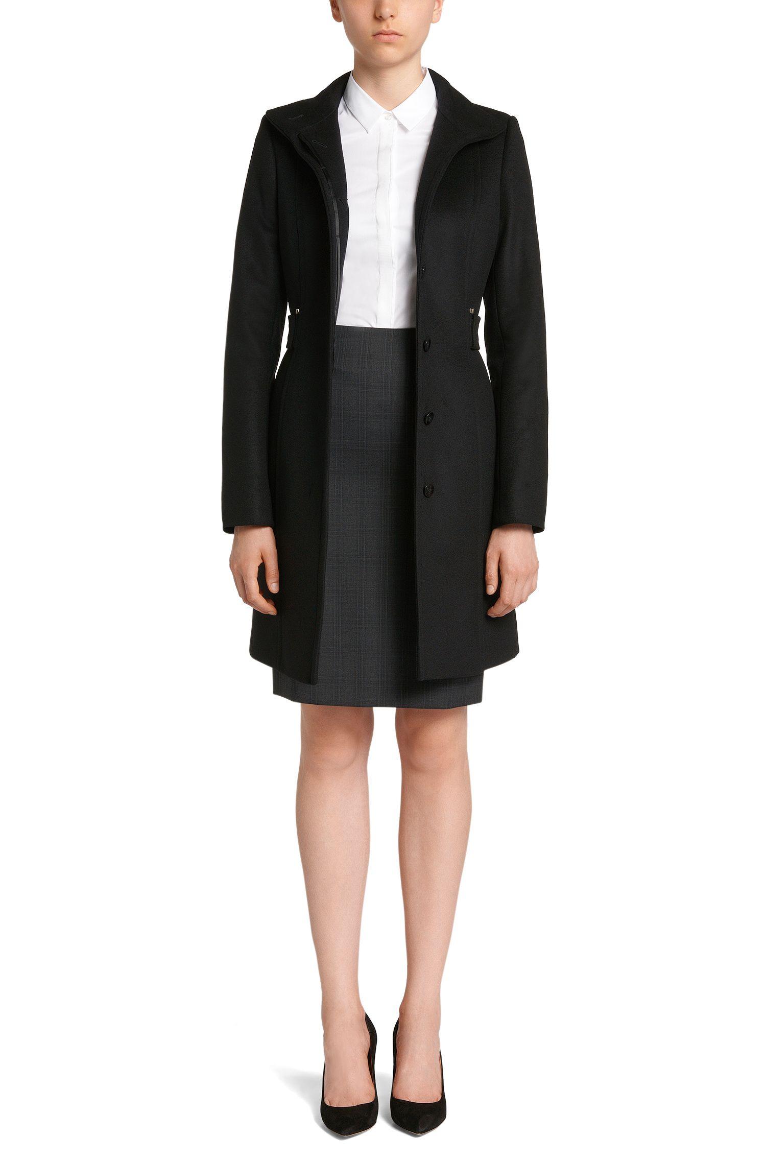 Taillierte Bluse aus Baumwoll-Mix mit verdeckter Knopfleiste: 'Biesa'