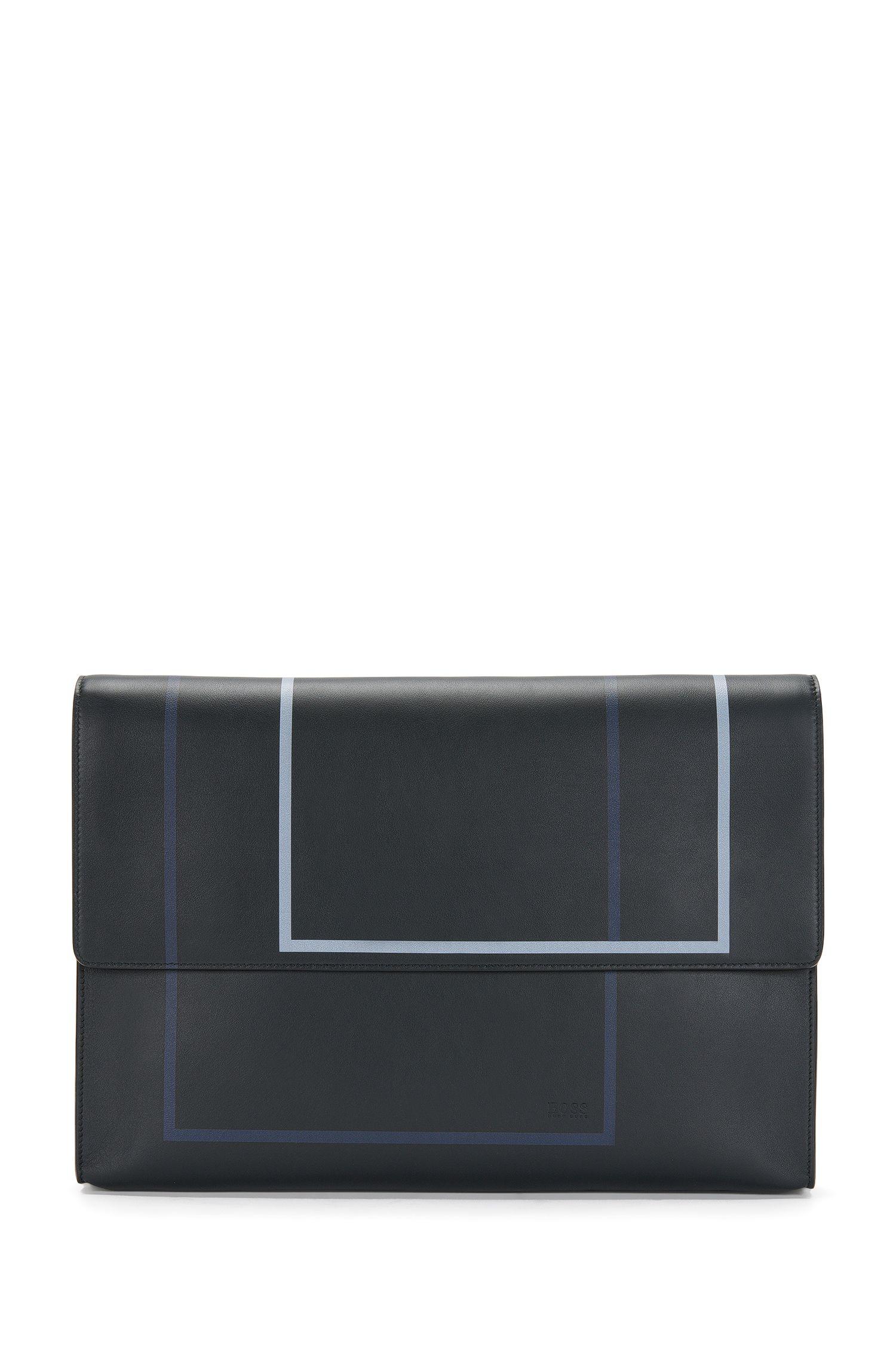 Portadocumentos de piel con estampado gráfico: 'Miro SH 16PF_Folio'