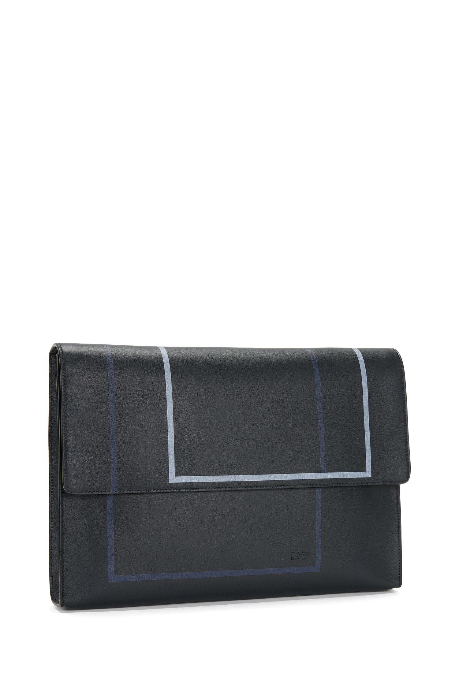 Aktentasche aus Leder mit grafischem Print: 'Miro SH 16PF_Folio'