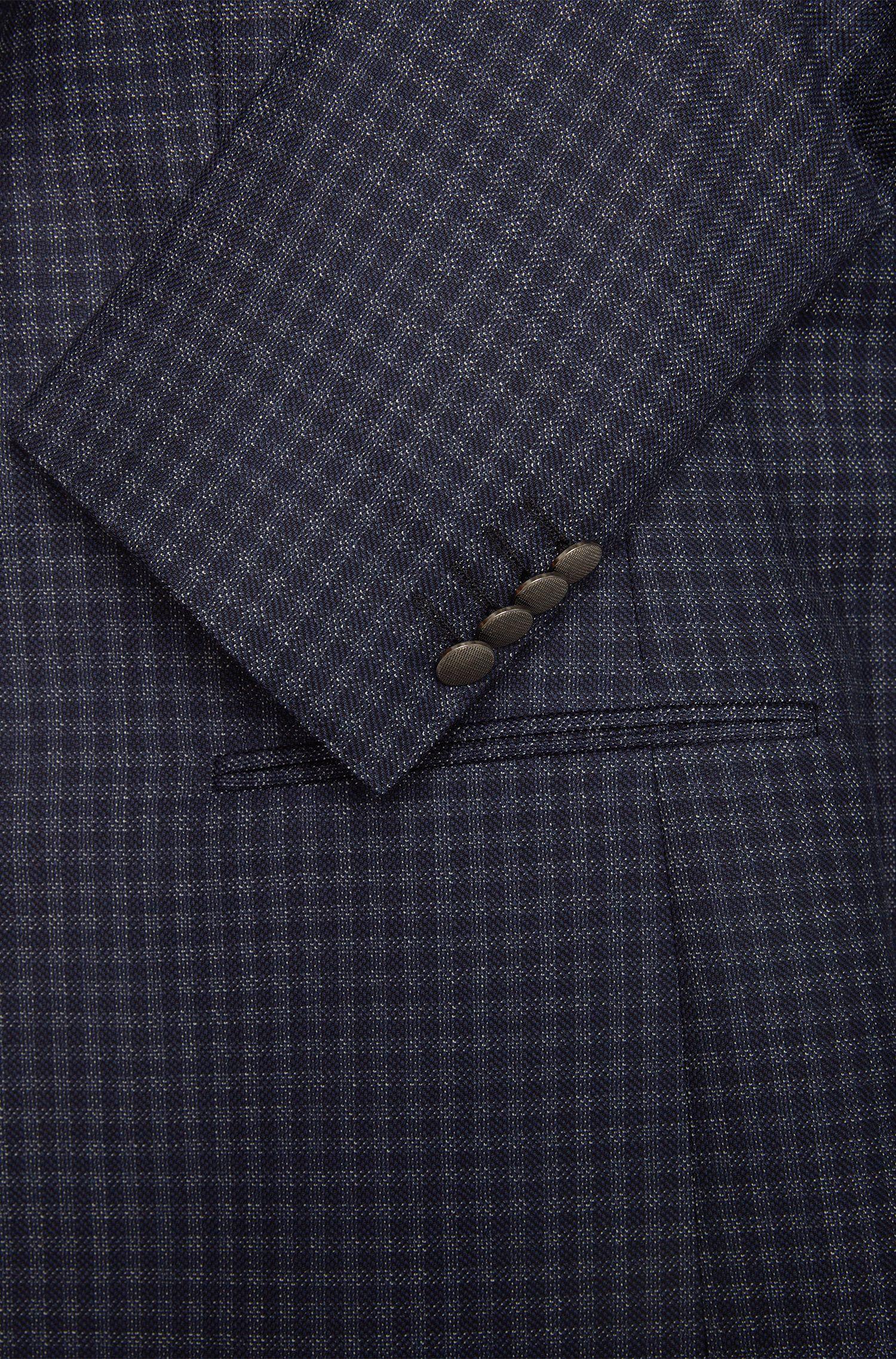 Veste de costume Regular Fit à carreaux en laine vierge: «Jordan»