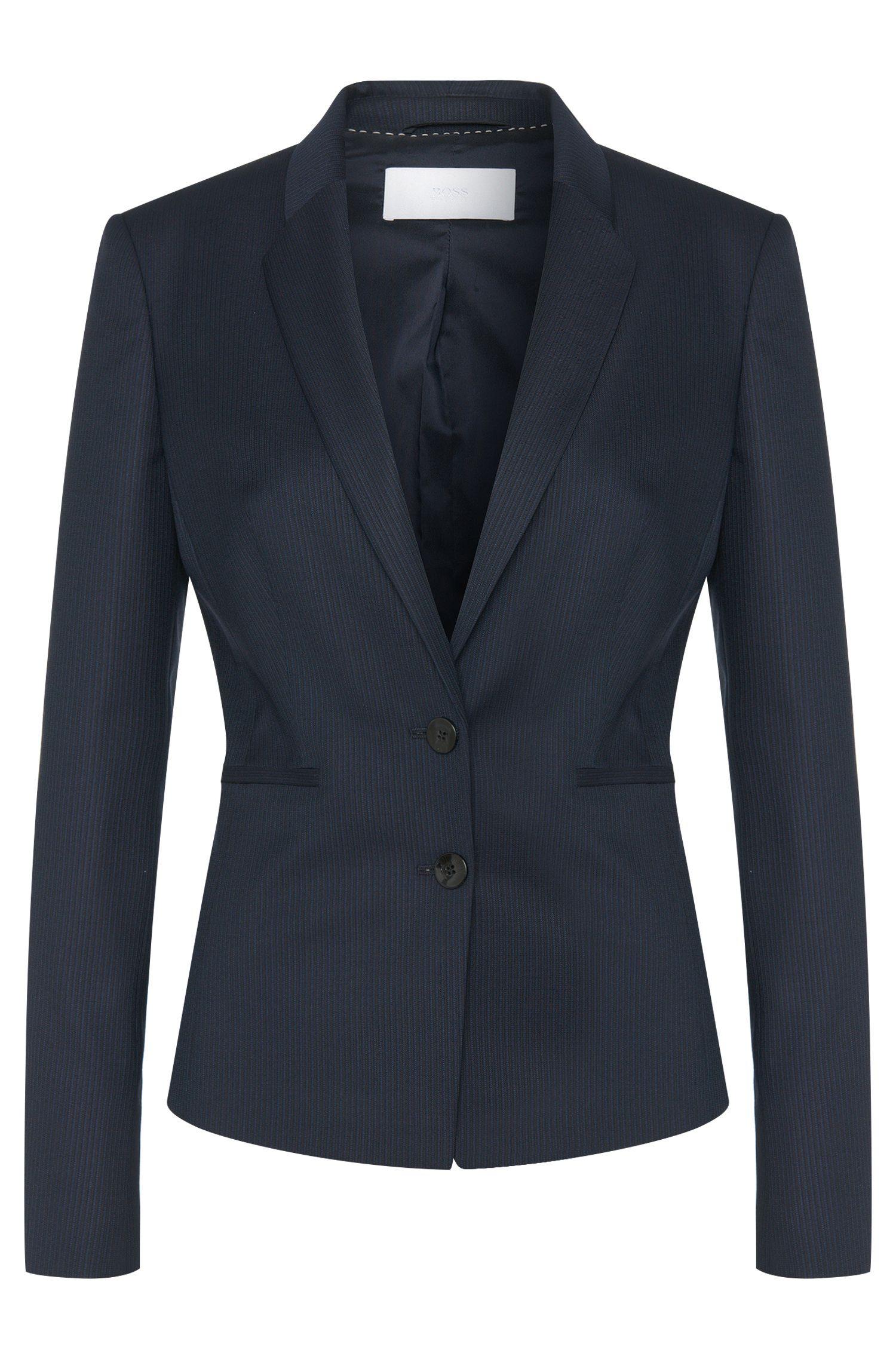 2-button blazer in new wool: 'Jalanda'