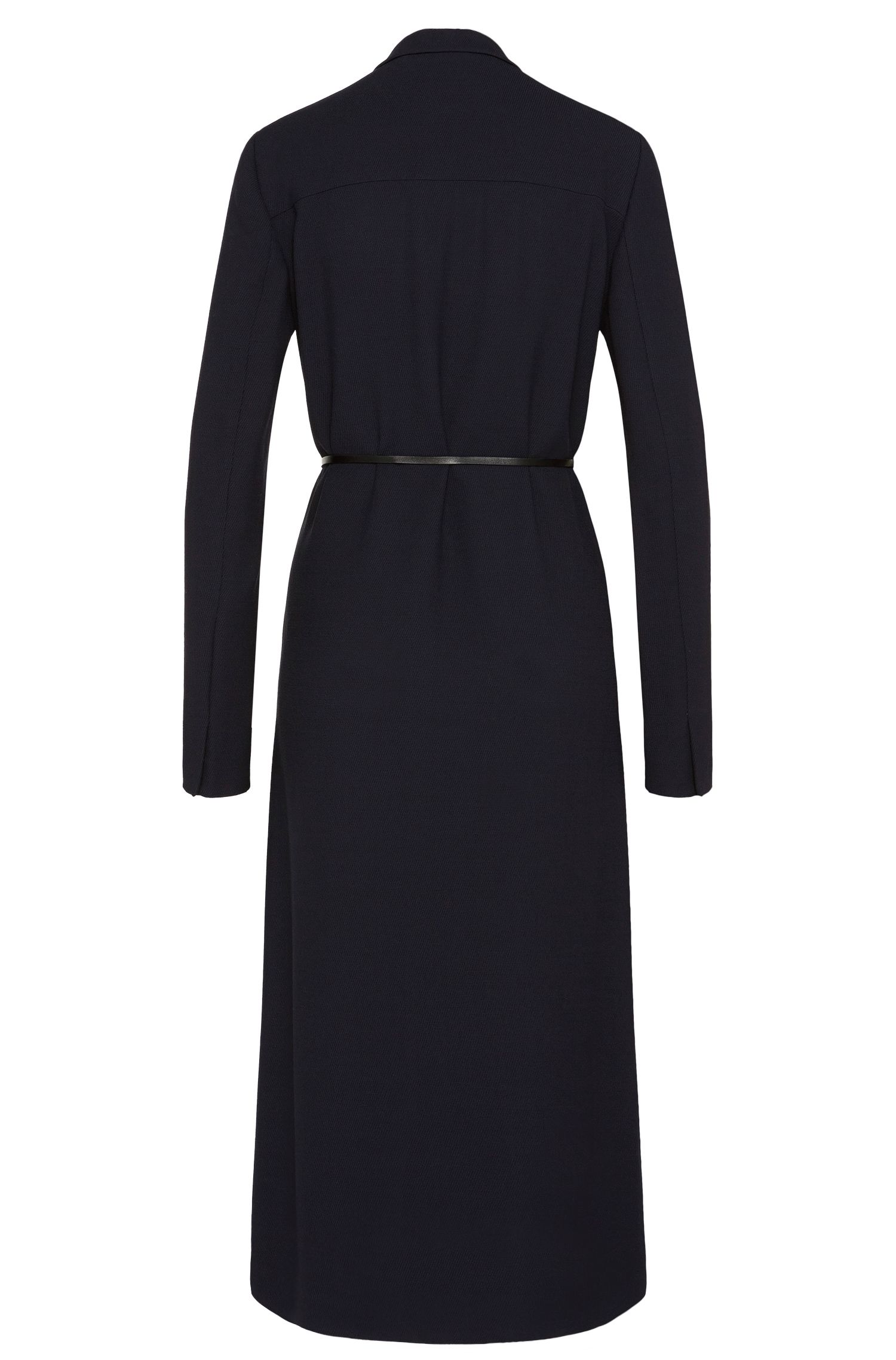 Kleid aus Viskose-Mix mit Schurwoll-Anteil und Taillengürtel: 'Doftina'