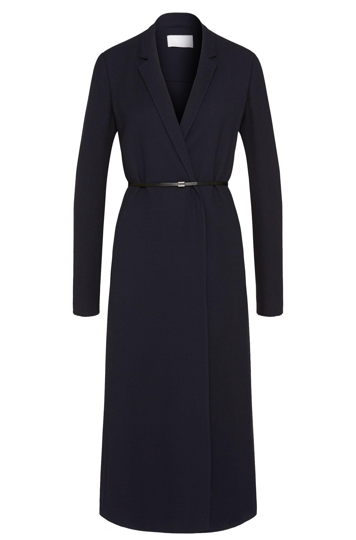 Robe longue en viscose mélangée, dotée d'une ceinture taille haute: «Doftina»
