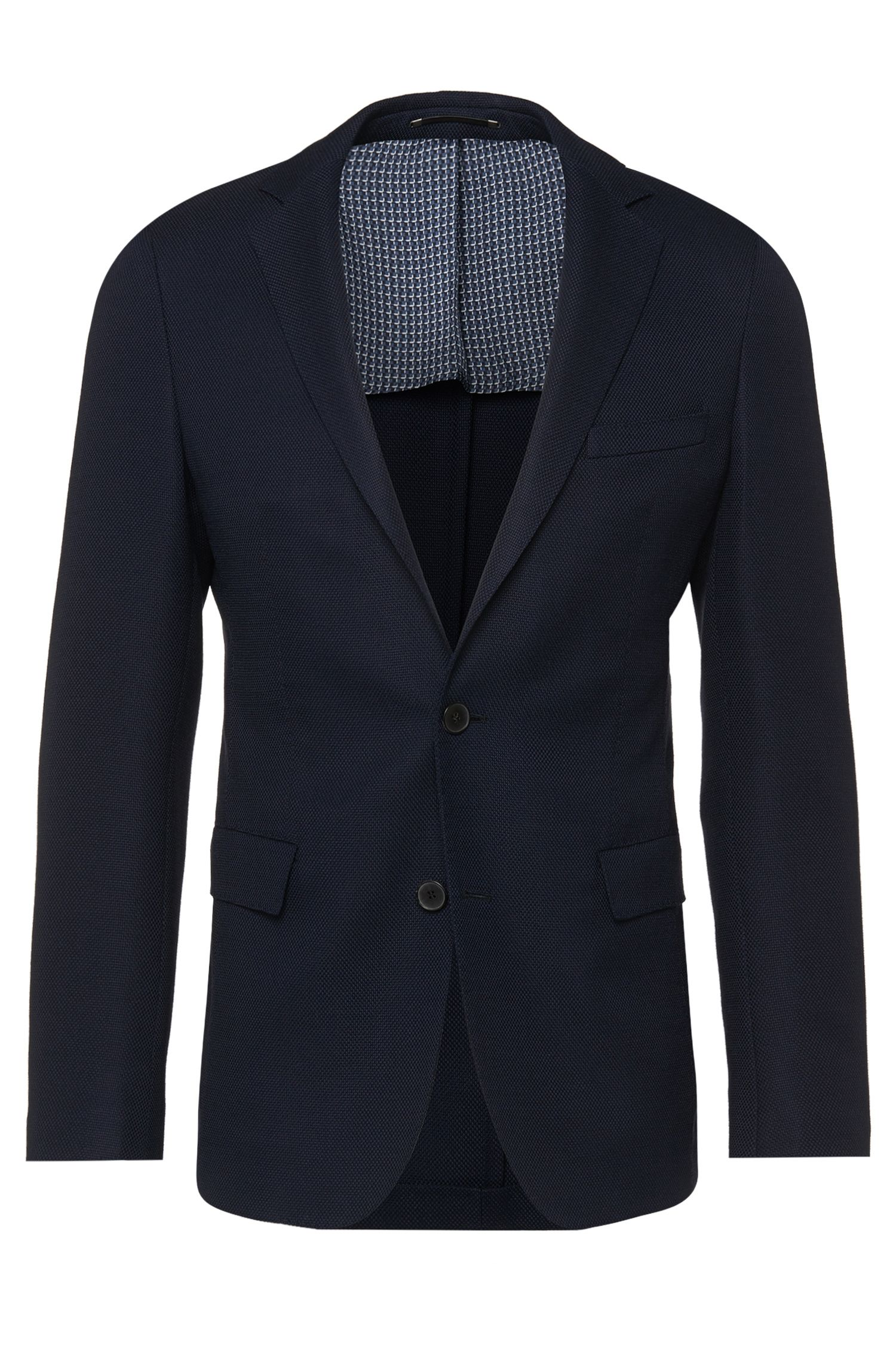 Extra-slim-fit jacket in stretchy new wool: 'Roan'