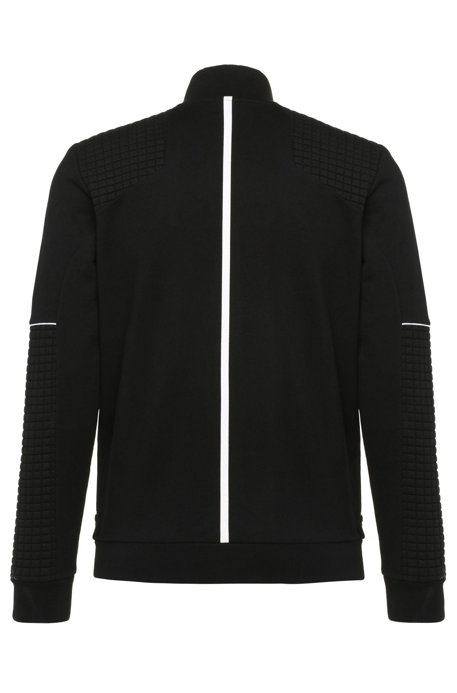 Regular-Fit Sweatshirt-Jacke aus reiner Baumwolle: ´Skaz 1`