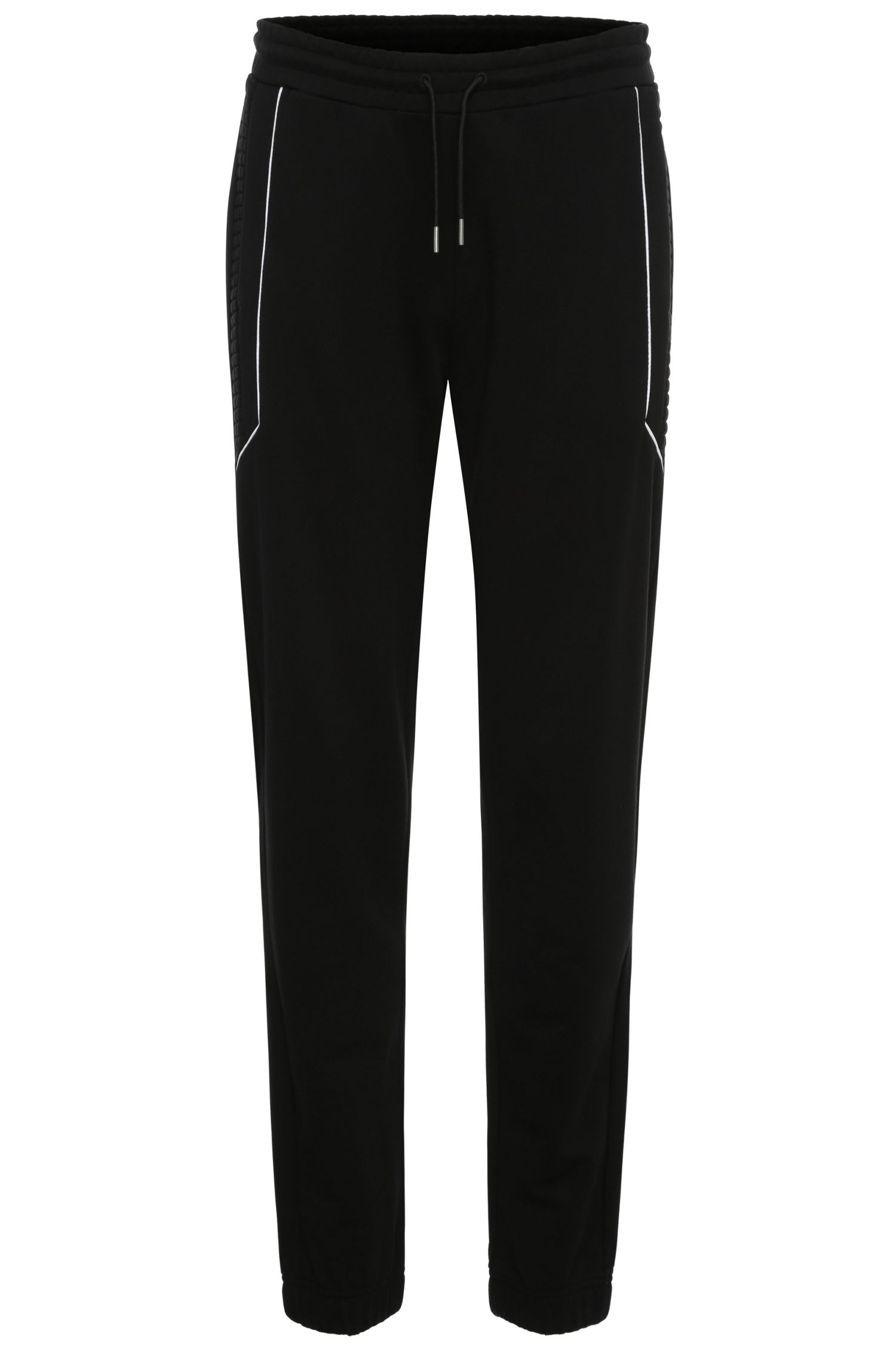 Pantalon de jogging Regular Fit en coton avec empiècements contrastants : « Halko »