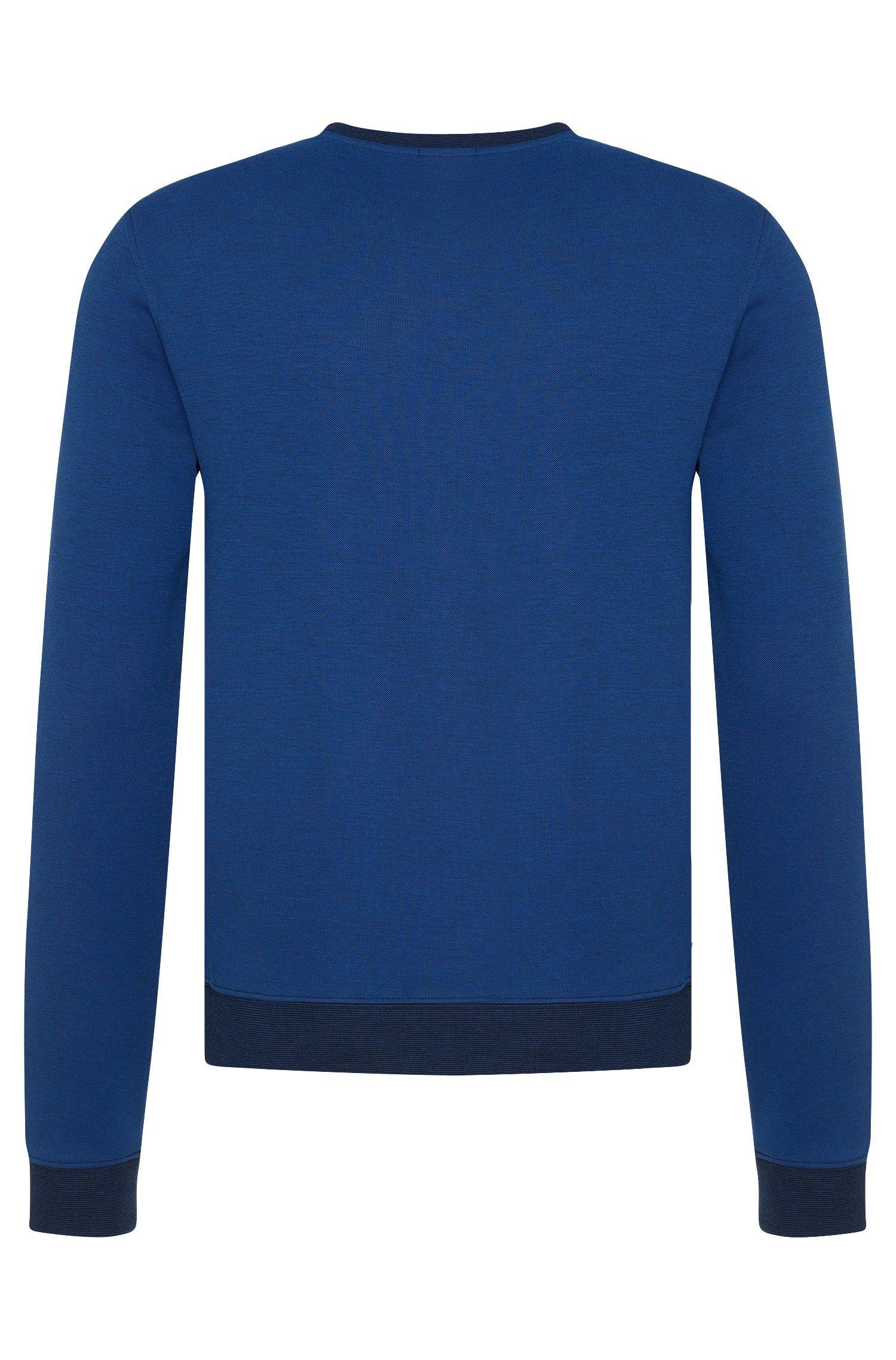 Slim-fit sweatshirt van een katoenmix met gestreepte uiteinden: 'Skubic10'