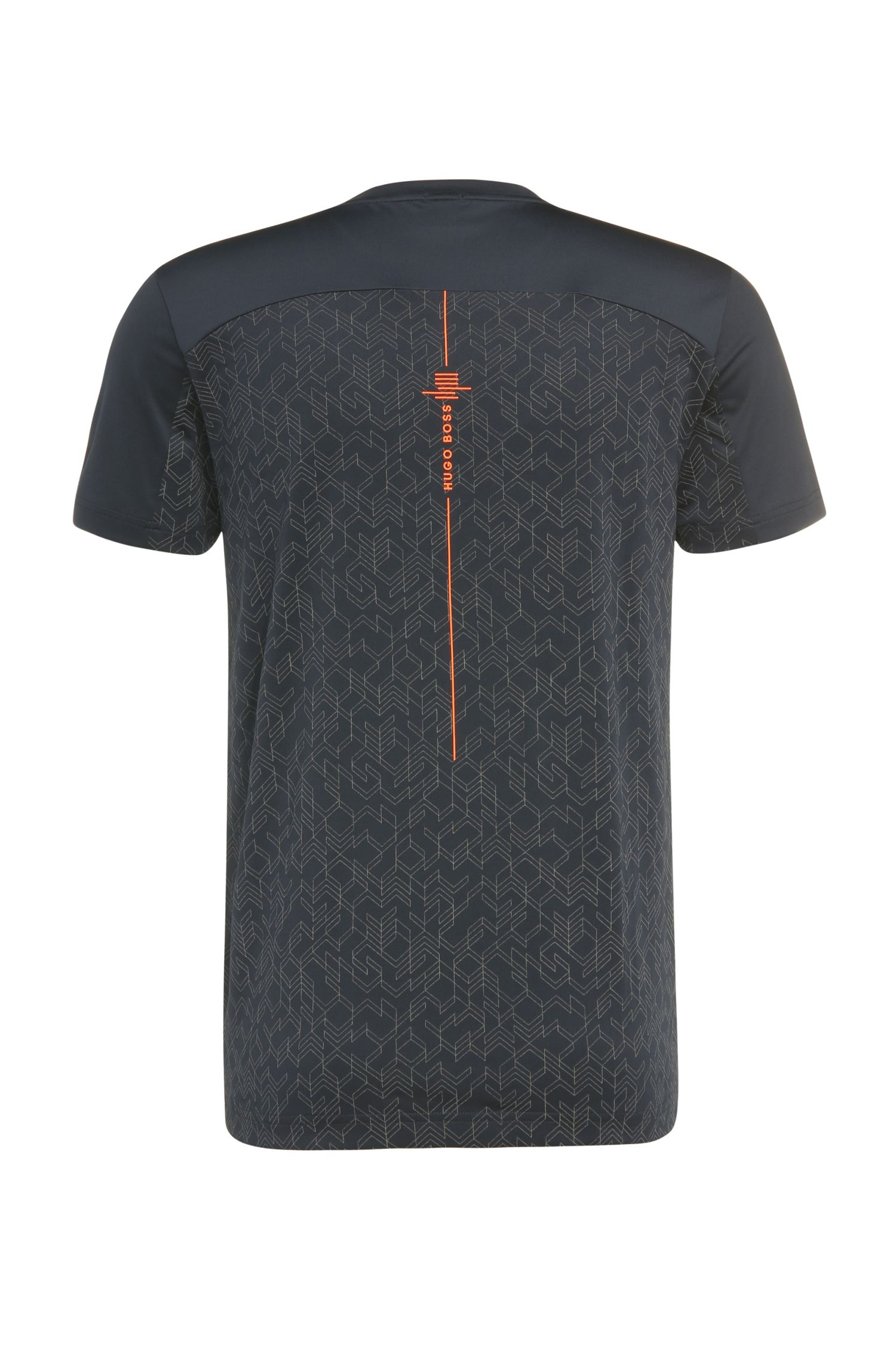 Slim-Fit T-Shirt in Stretch-Qualität: ´Tianotech`