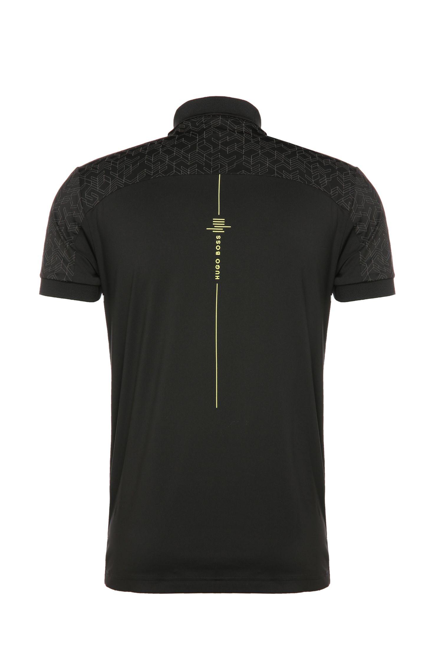 Slim-Fit Poloshirt aus einem elastischen Material-Mix: ´Pavotech`