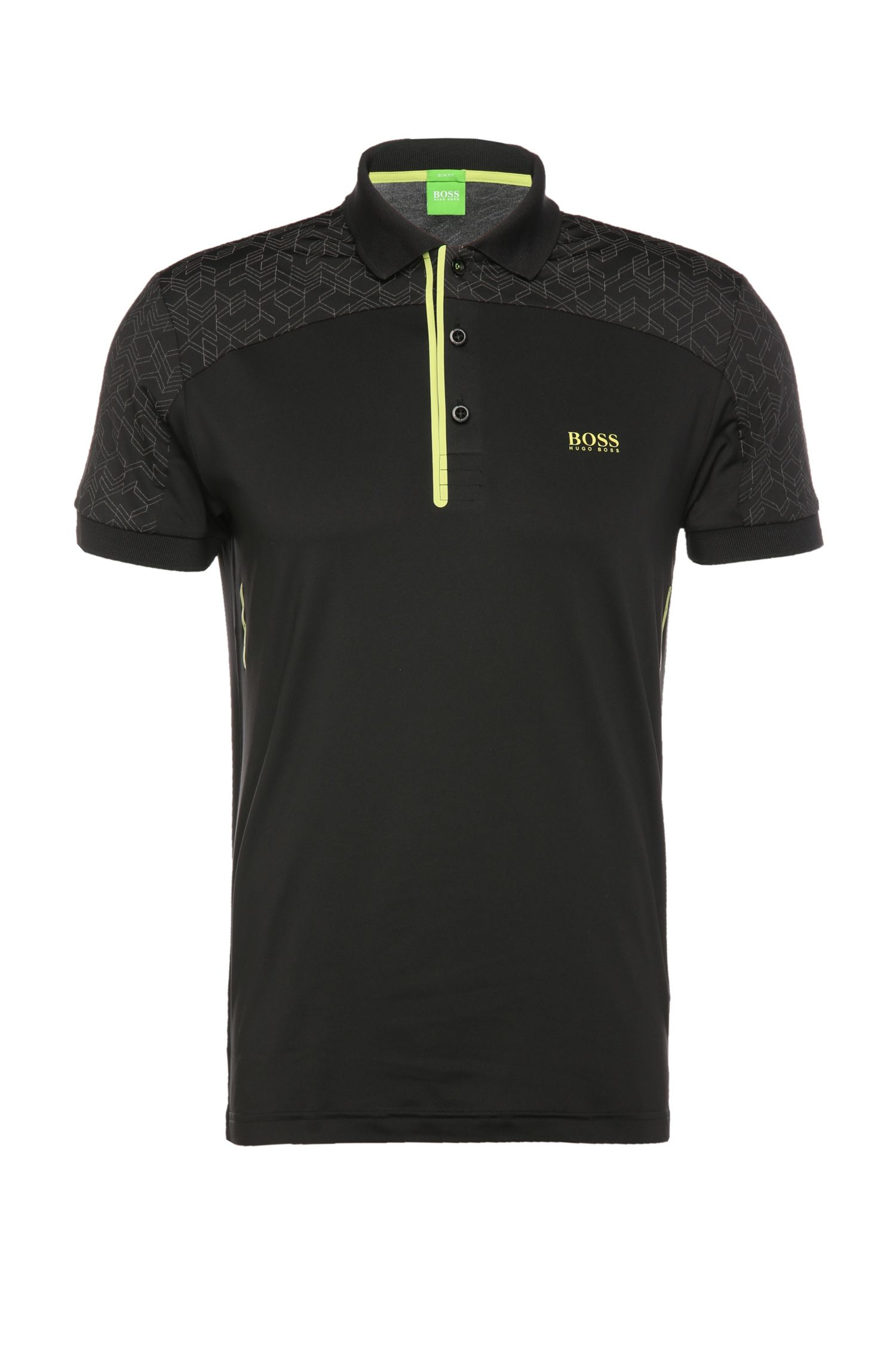 Slim-fit polo shirt in a stretchy fabric blend: 'Pavotech'