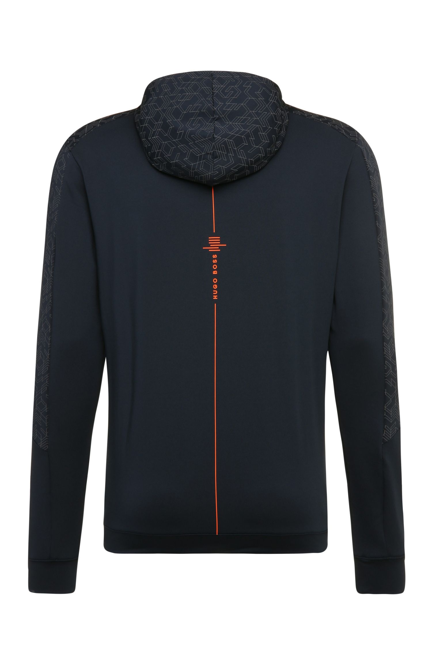 Regular-Fit Sweatshirt-Jacke aus Material-Mix: ´Saggytech`