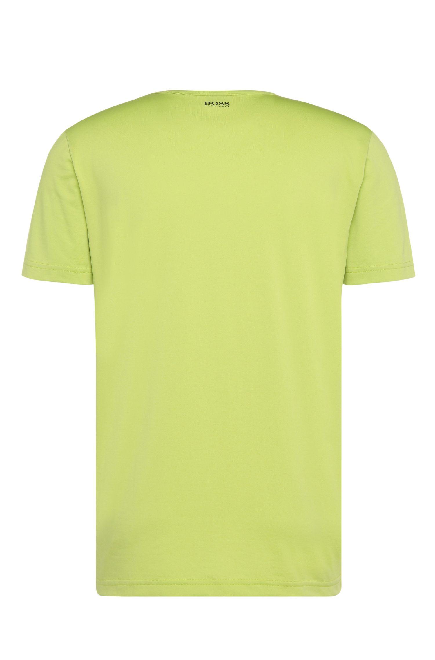 Regular-fit shirt van een katoenmix met print: 'Tee 7'