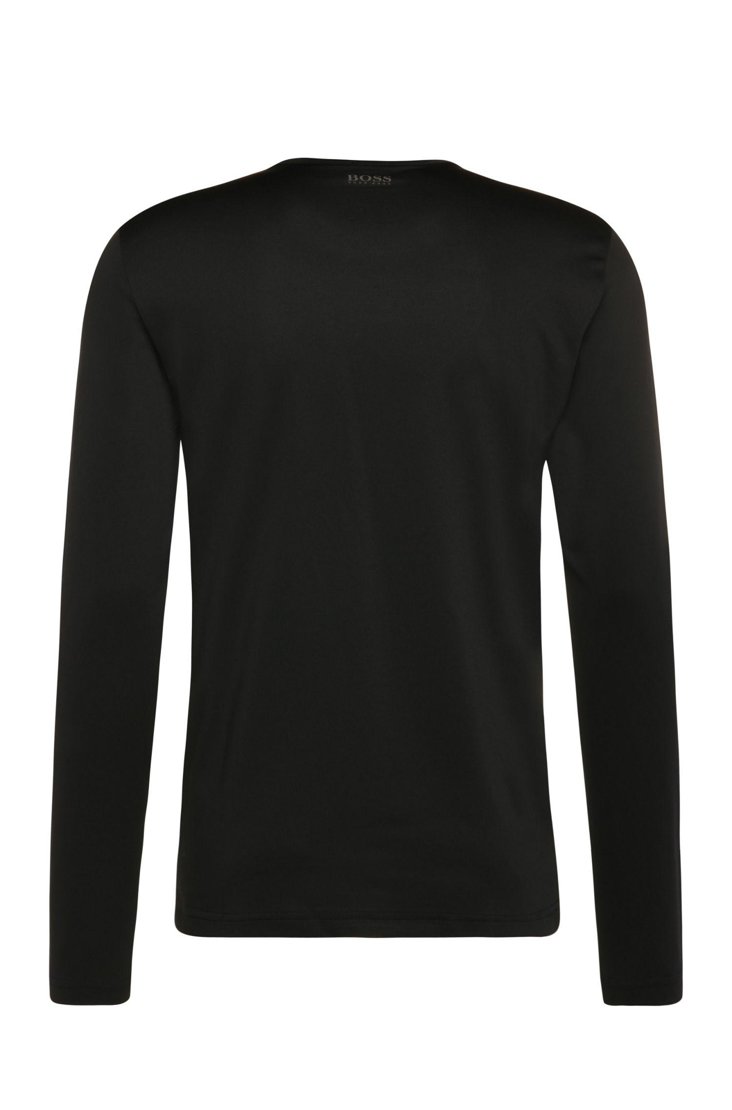 T-shirt Regular Fit à manches longues en coton mélangé imprimé: «Togn2»