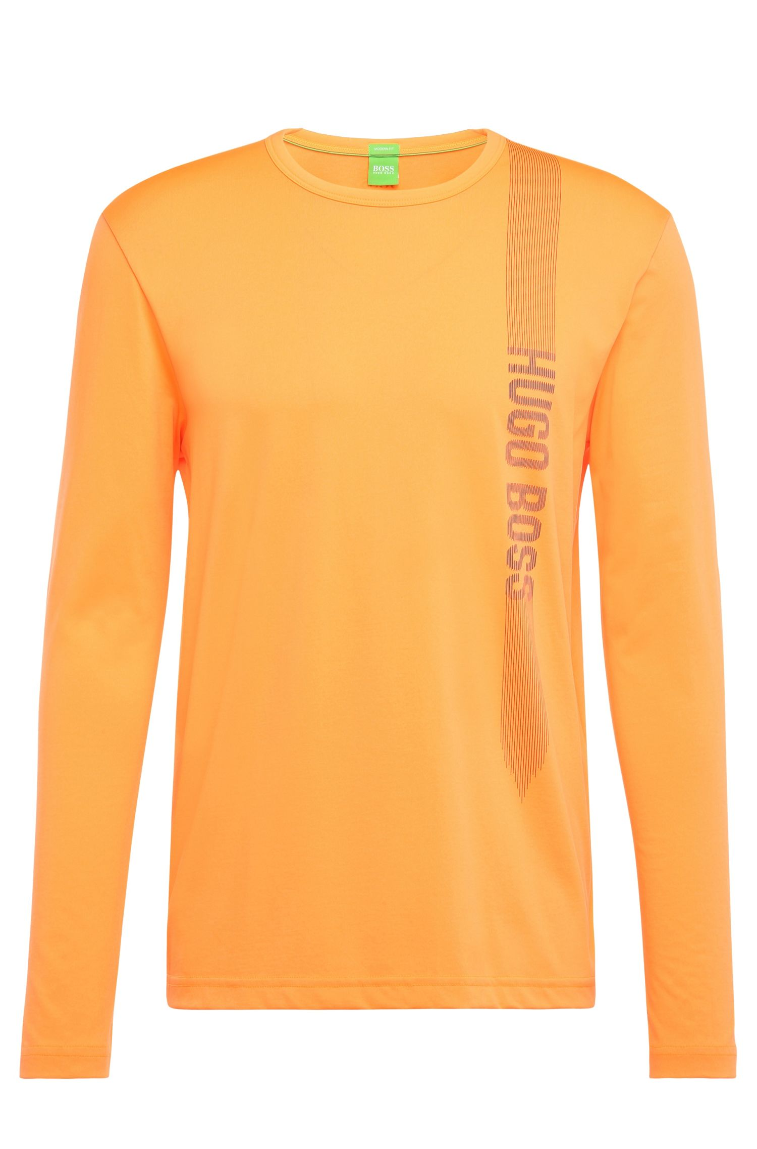 Regular-Fit Longsleeve aus Baumwoll-Mix mit Print: ´Togn 2`