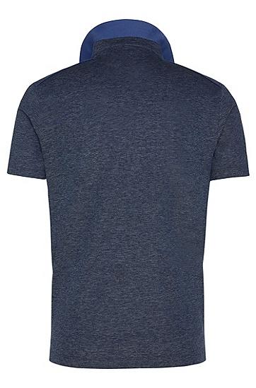 Regular-Fit Tailored Poloshirt aus reiner Baumwolle: 'T-Peret 02', Blau
