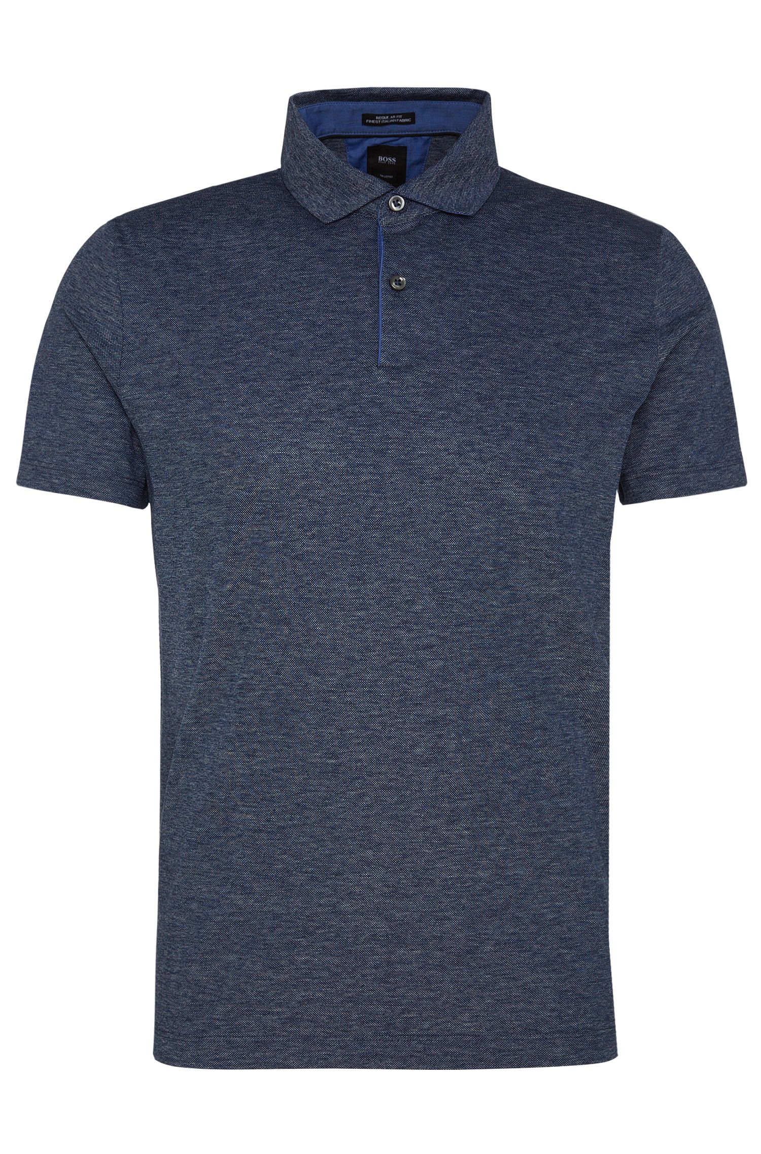 Regular-Fit Tailored Poloshirt aus reiner Baumwolle: 'T-Peret 02'