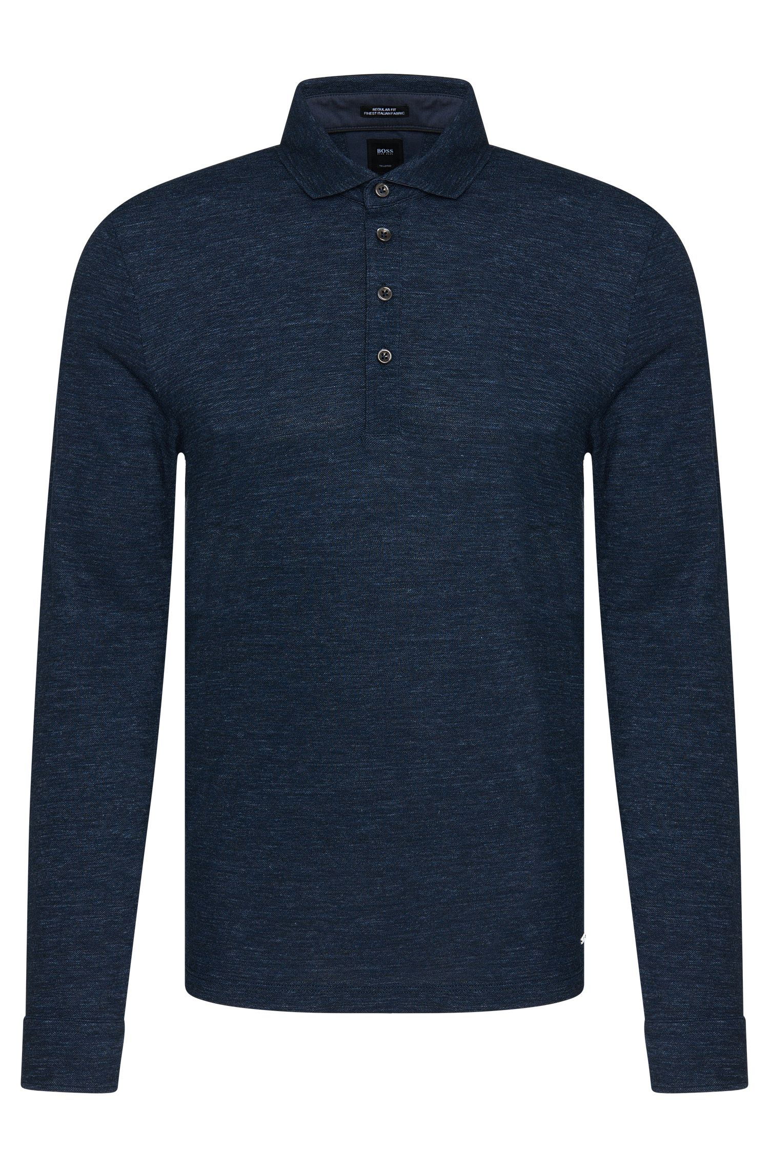 Polo a maniche lunghe regular fit Tailored in misto lana con cotone: 'T-Morrison 07'