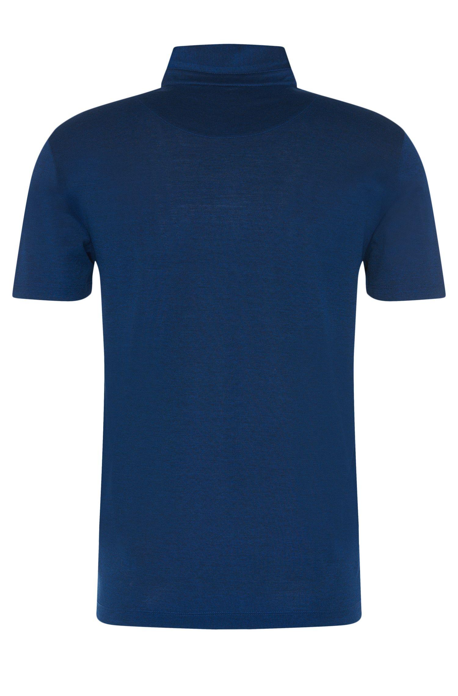 Regular-Fit Poloshirt aus merzerisierter Baumwolle mit grafischem Muster: 'Press 06'