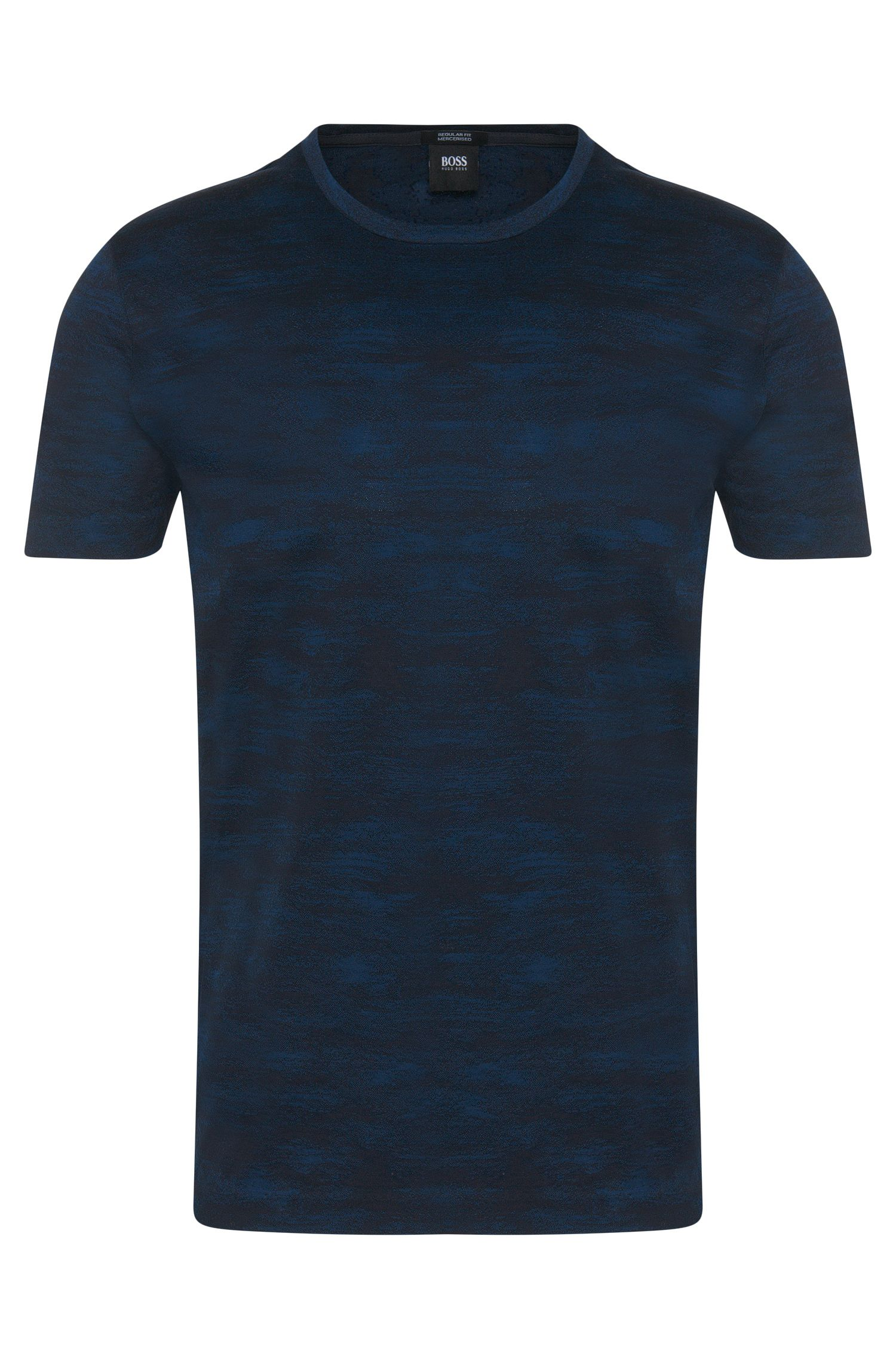 Regular-fit cotton t-shirt in a 2-tone pattern: 'Tiburt 16'