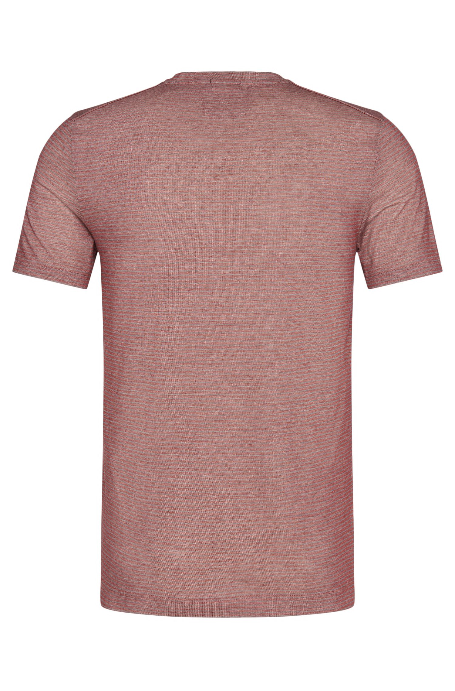 Gestreiftes Slim-Fit Tailored T-Shirt aus Baumwolle: 'T-Tribel 17'