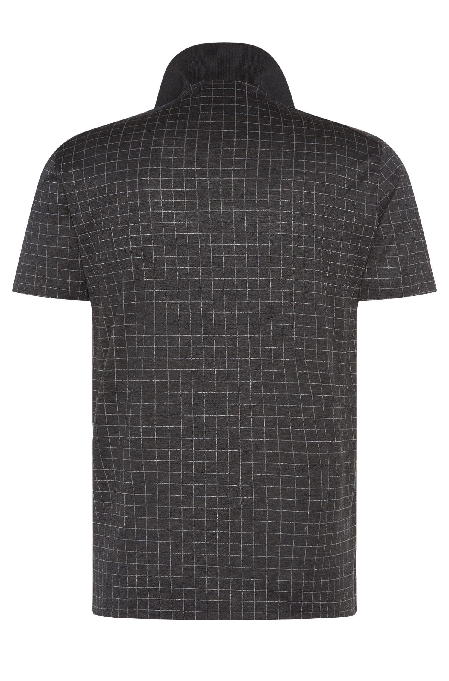 Kariertes Regular-Fit Tailored Poloshirt aus Baumwolle: 'T-Perry 07'