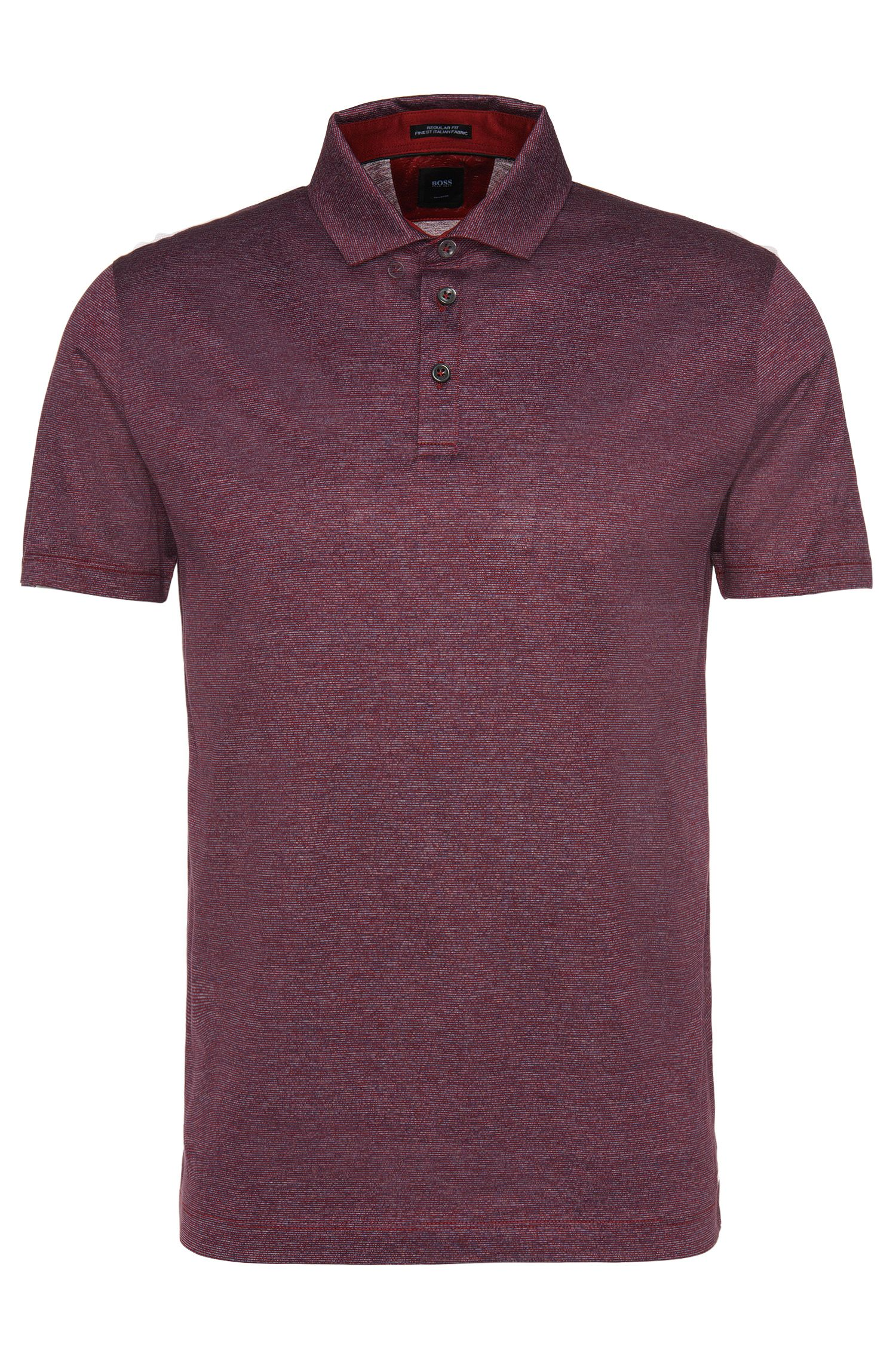 Regular-Fit Tailored Poloshirt aus Baumwolle: 'T-Perkins 06'