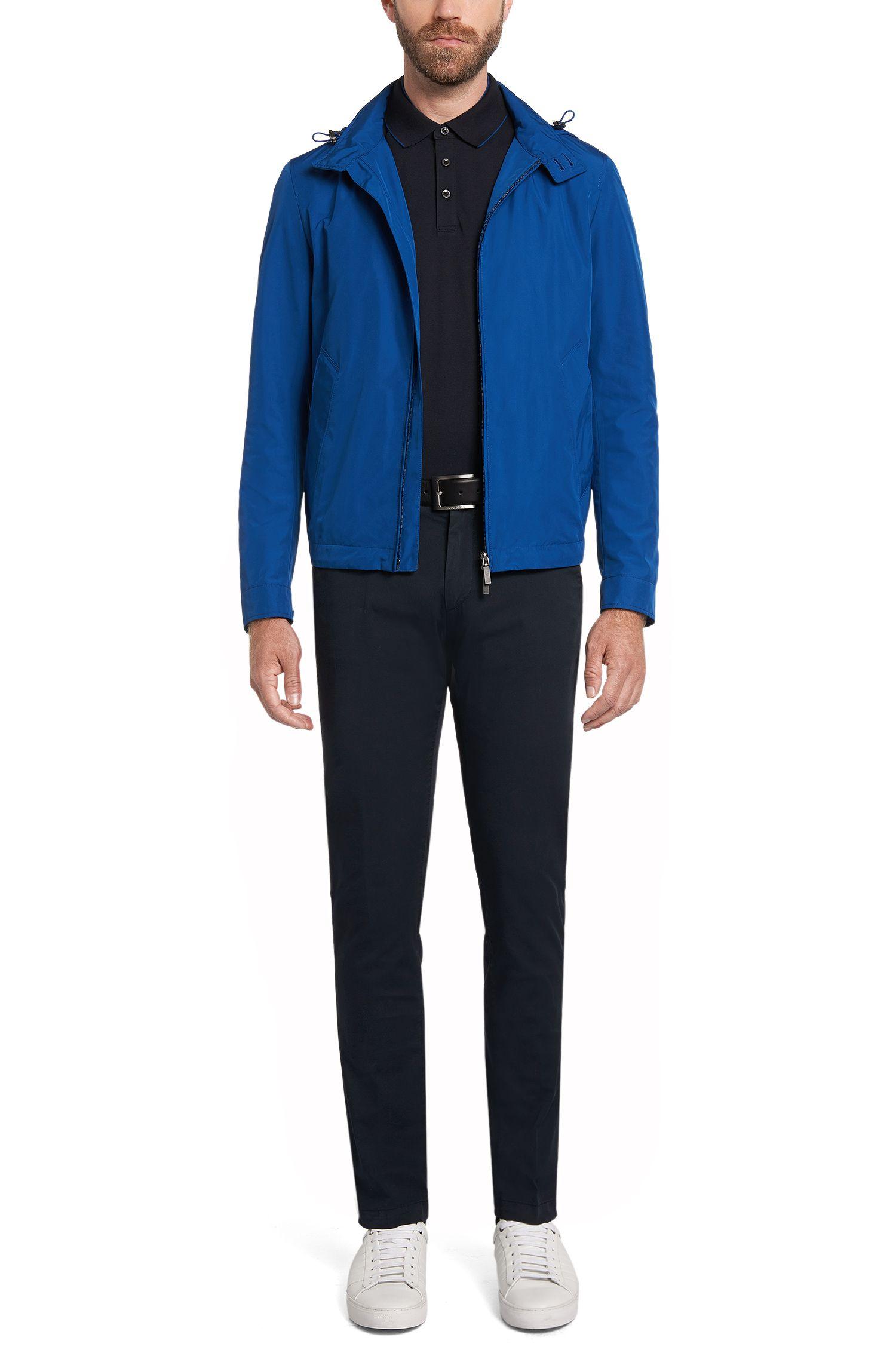 Regular-Fit Poloshirt aus Baumwolle mit Kontrast-Details: 'Pazel 01'