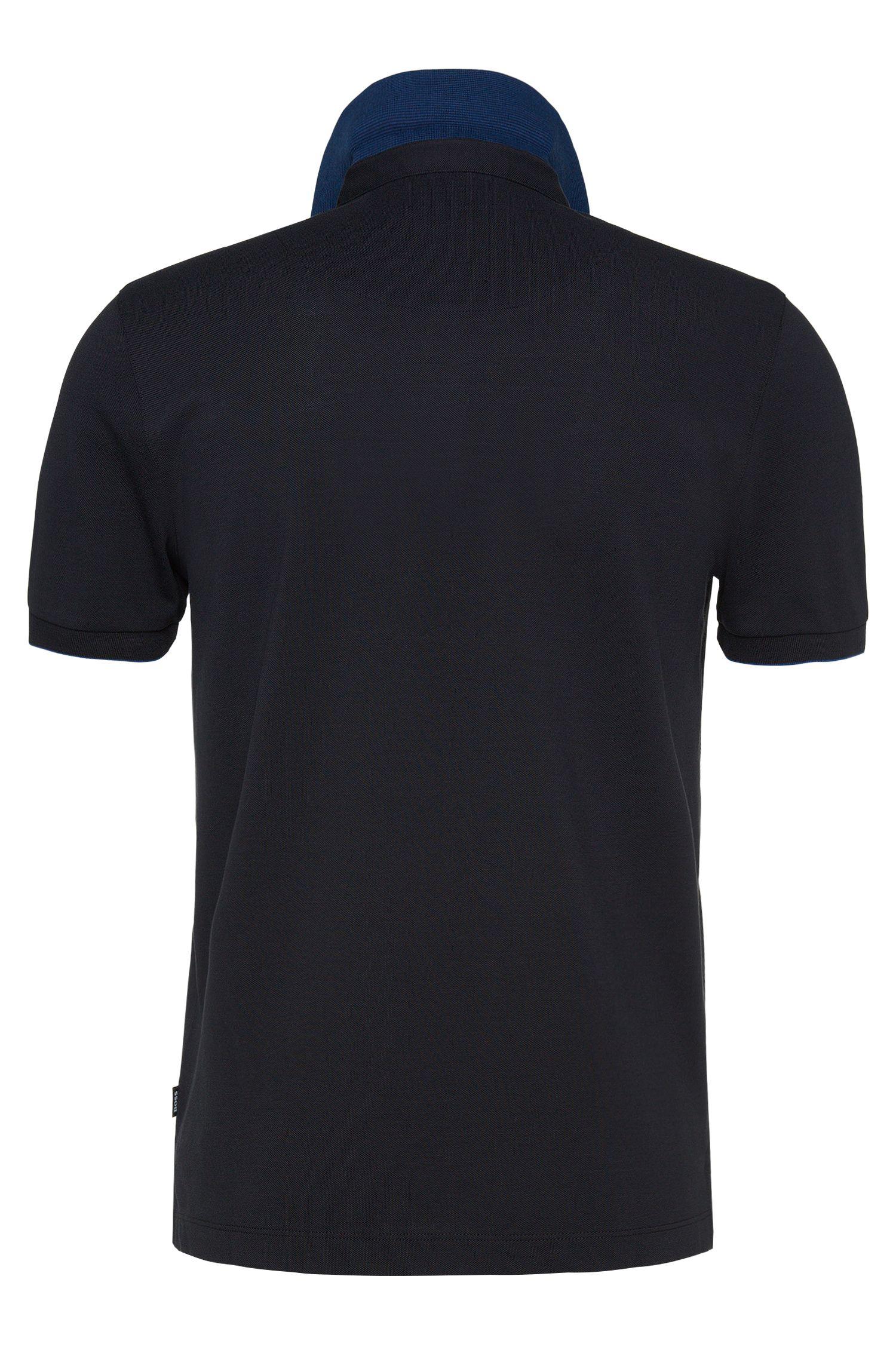 Polo Regular Fit en coton, orné de détails contrastants: «Pazel 01»