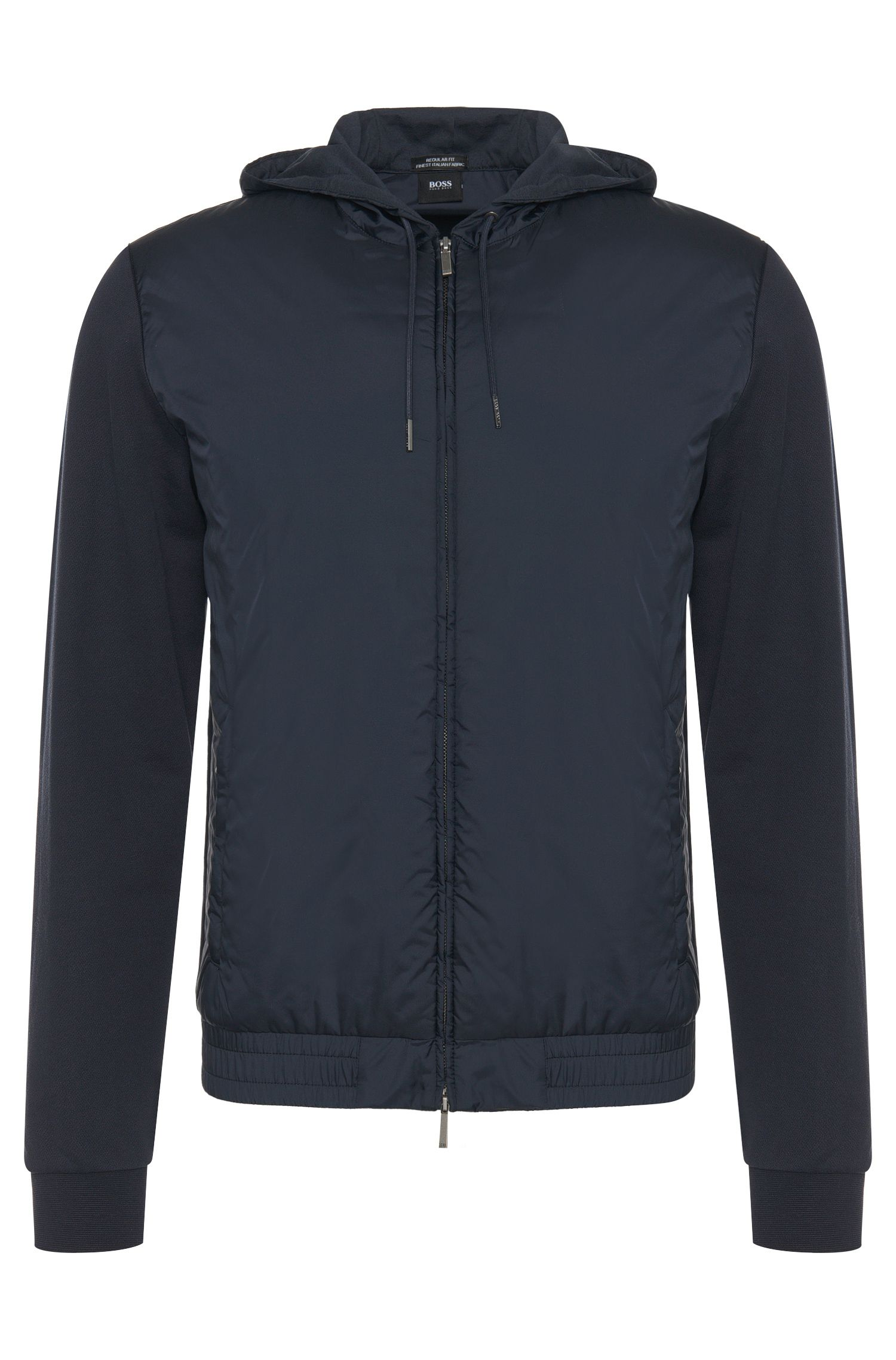 Blouson sweat Regular Fit en coton mélangé : « Seeger 01 »