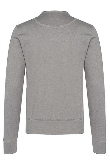 Leichtes Slim-Fit Sweatshirt aus Baumwolle: 'Skubic 09', Hellgrau