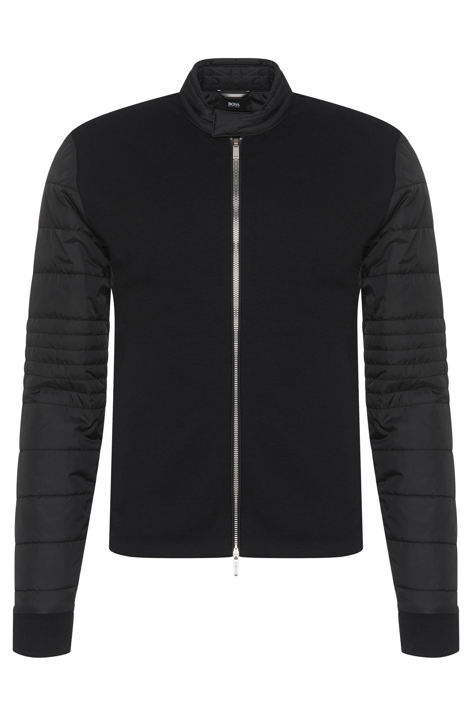 Leicht gefütterte Slim-Fit Sweatshirt-Jacke aus Baumwoll-Mix: 'Solari 01' aus der Mercedes Benz-Kollektion