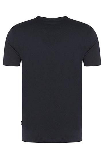 Regular-Fit T-Shirt aus Baumwoll-Mix mit aufgesetzter Tasche: 'Tiburt 15', Dunkelblau