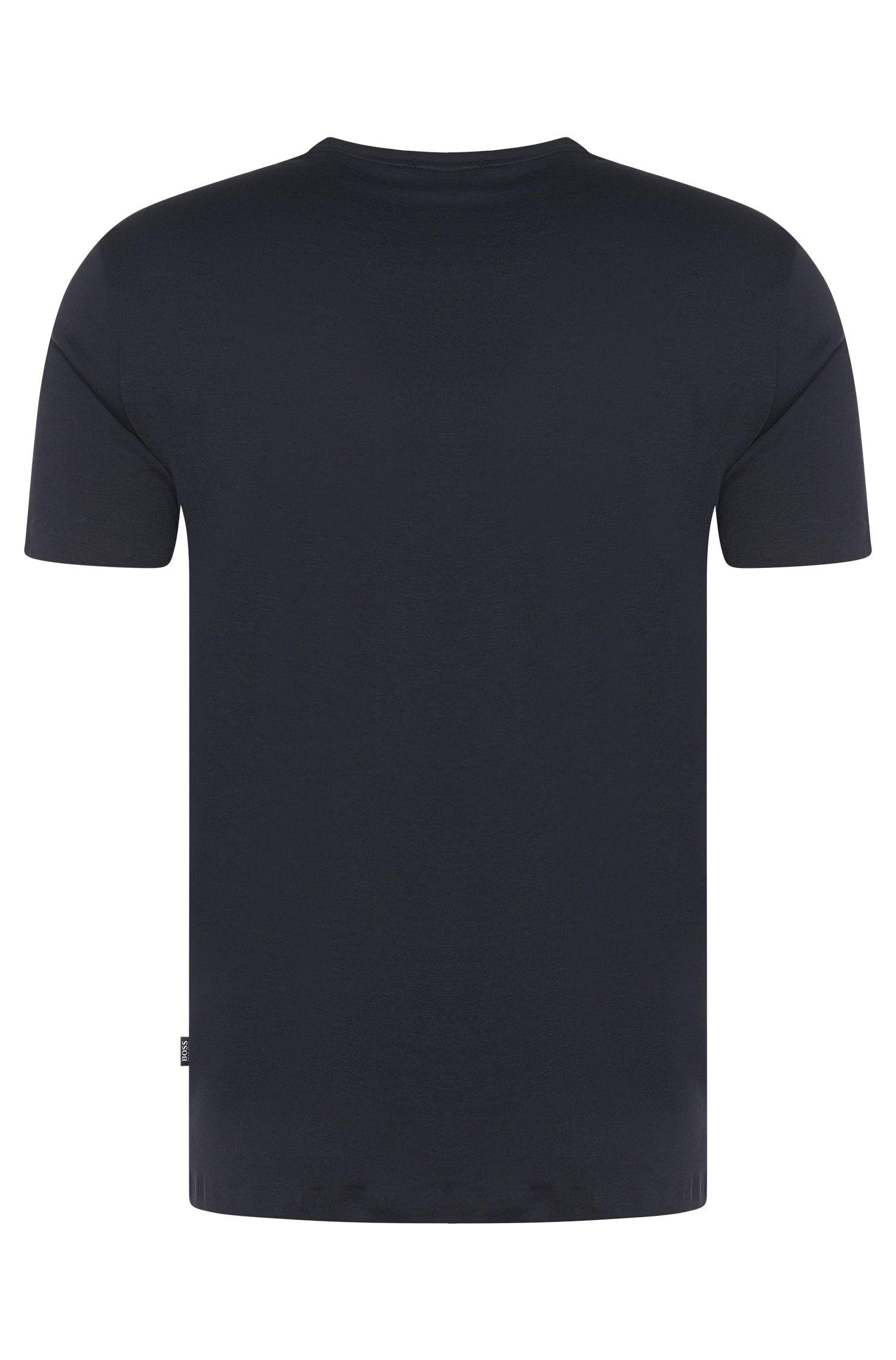 Regular-fit T-shirt van een katoenmix met opgezette zak: 'Tiburt 15'