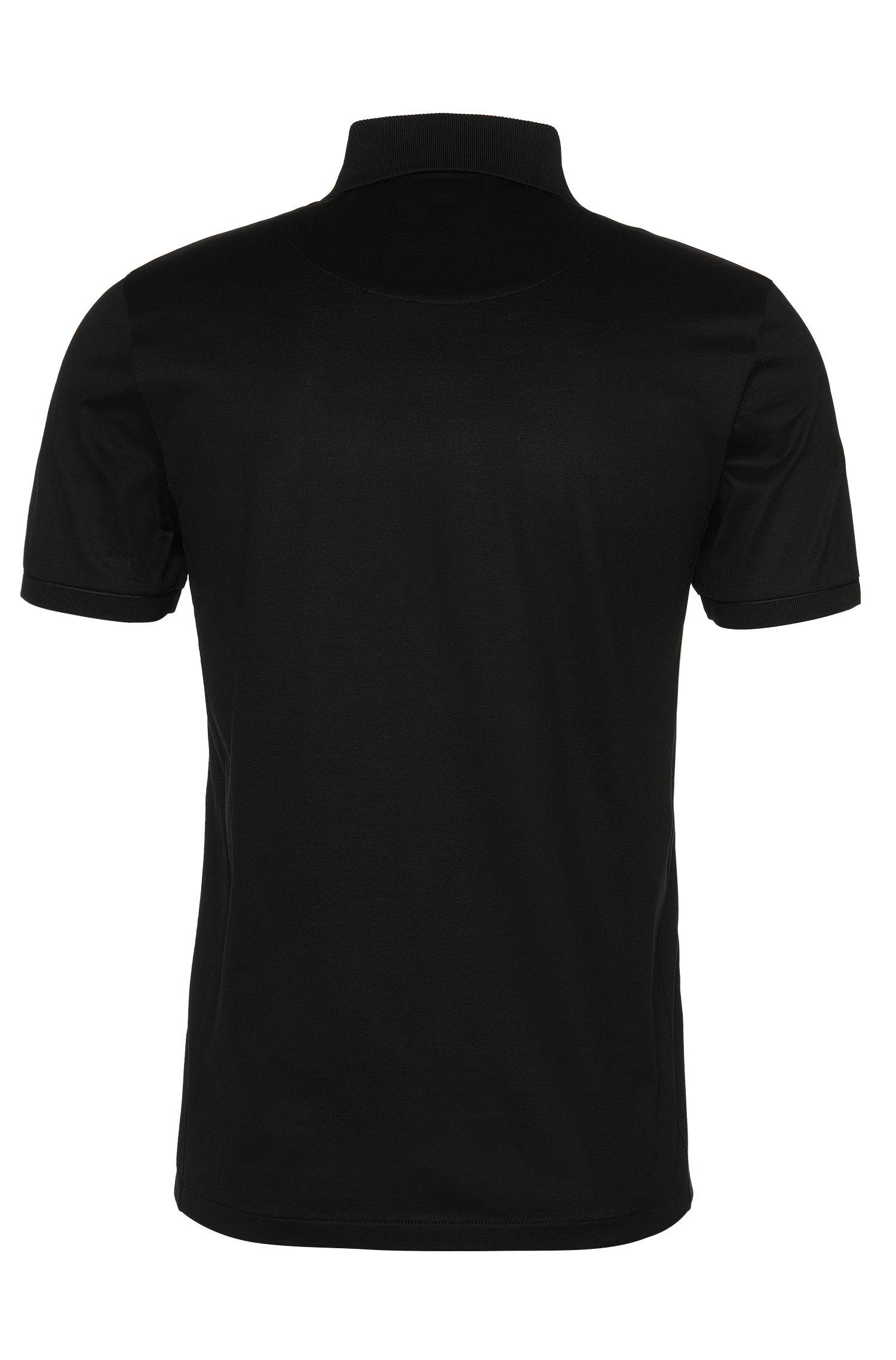 Unifarbenes Slim-Fit Poloshirt aus Stretch-Baumwolle: 'Penrose 07' aus der Mercedes Benz Kollektion