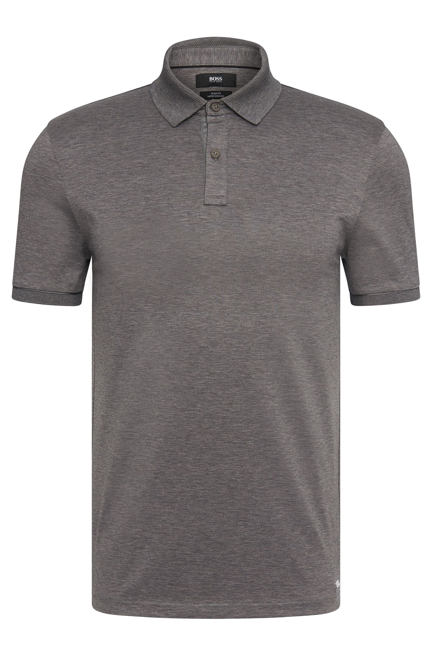 Plain slim-fit polo shirt in stretch cotton: 'Penrose 07' from the Mercedes-Benz Collection