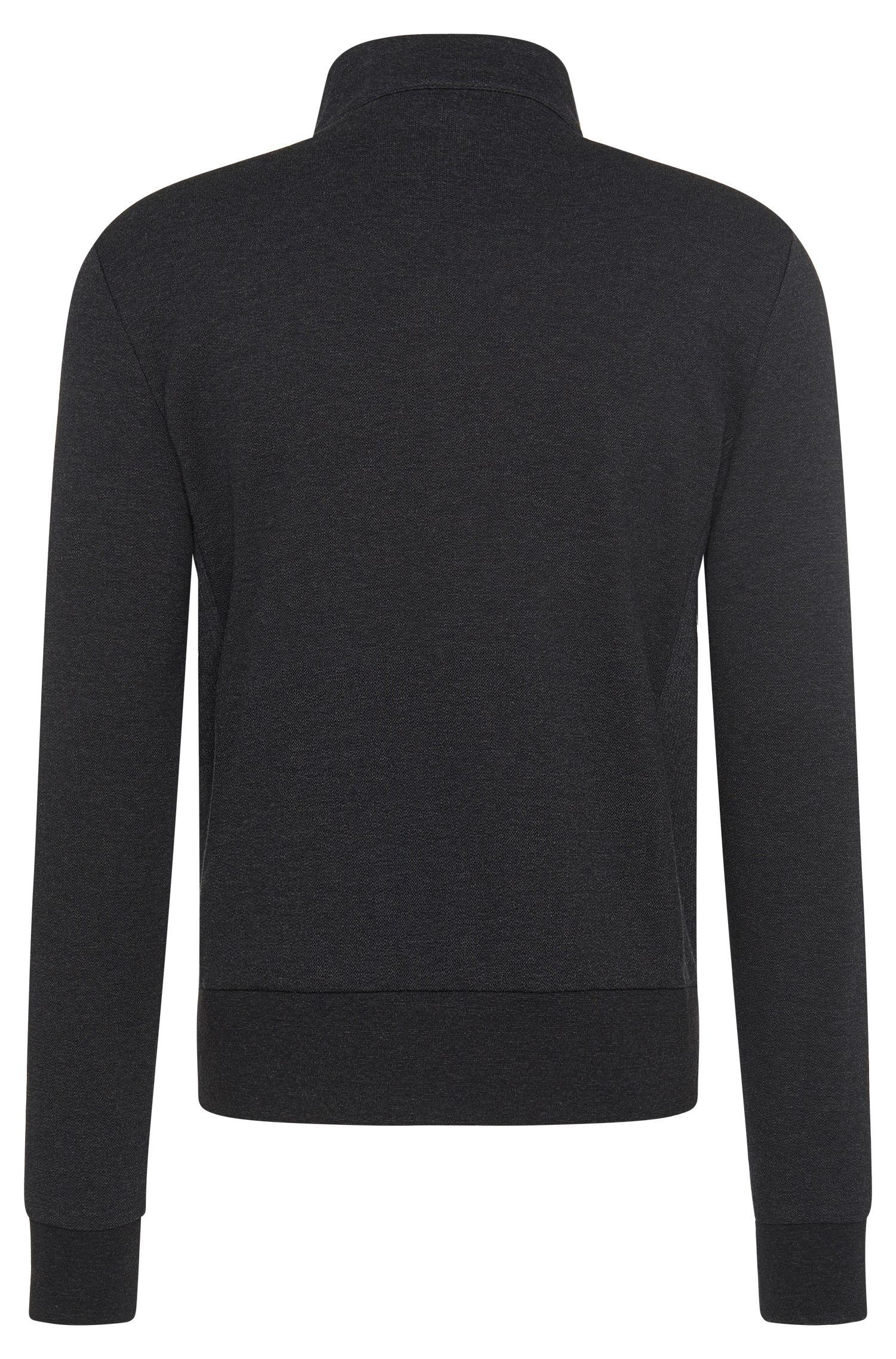 Melierte Regular-Fit Sweatshirt-Jacke aus Baumwolle: 'Sommers 10'