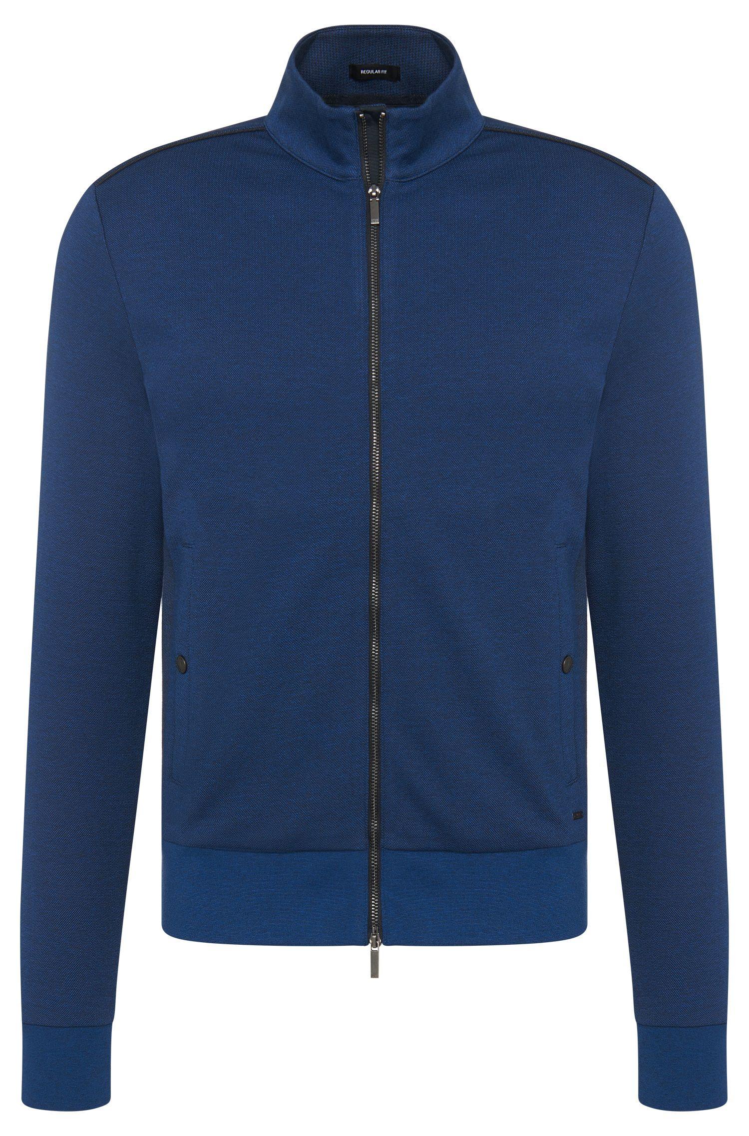 Mottled regular-fit sweatshirt jacket in cotton: 'Sommers 10'