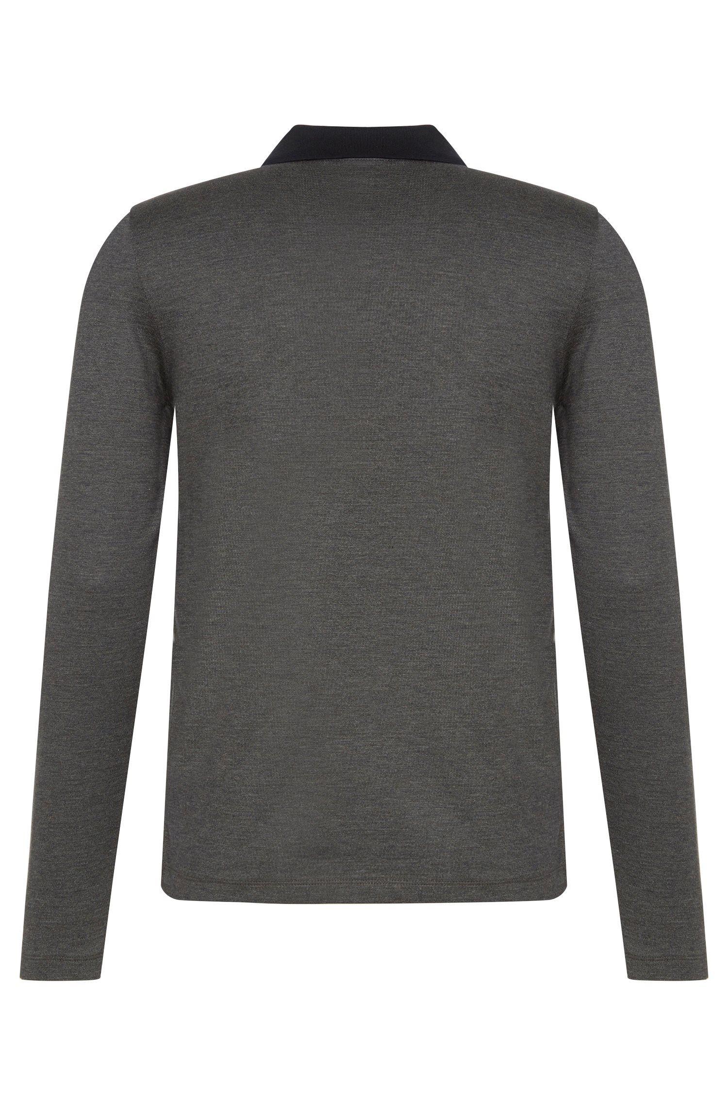 Polo à manches longues Slim Fit en coton: «Paschal01»