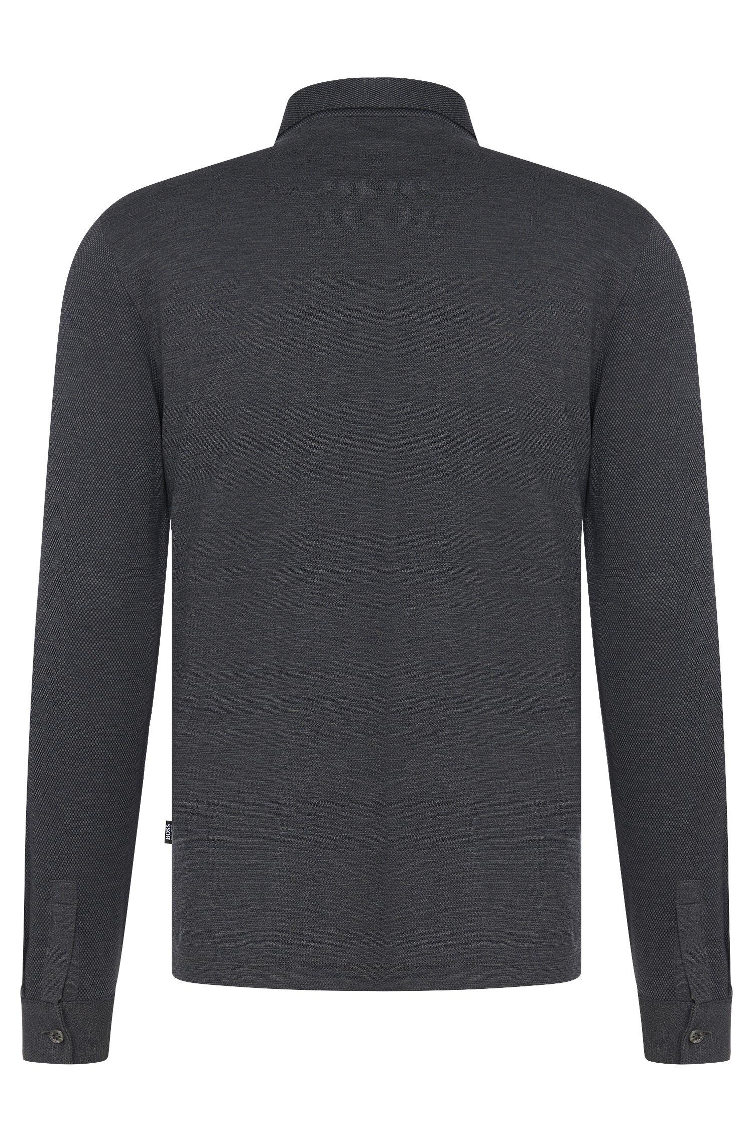 Polo à manches longues Regular Fit en coton: «Pickell03»