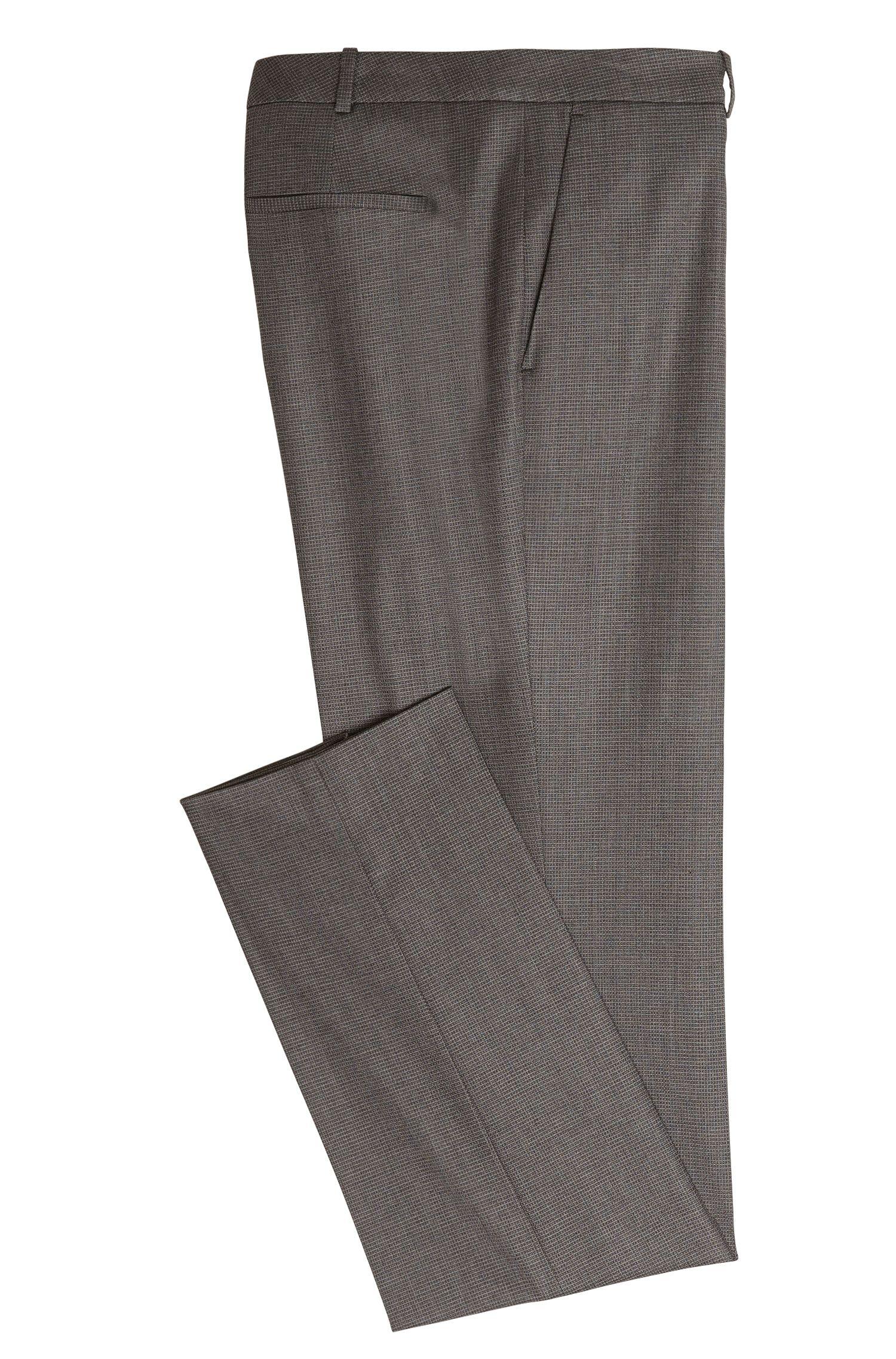 Pantalon Regular Fit en laine vierge mélangée, à plis de repassage: «Tamea1»