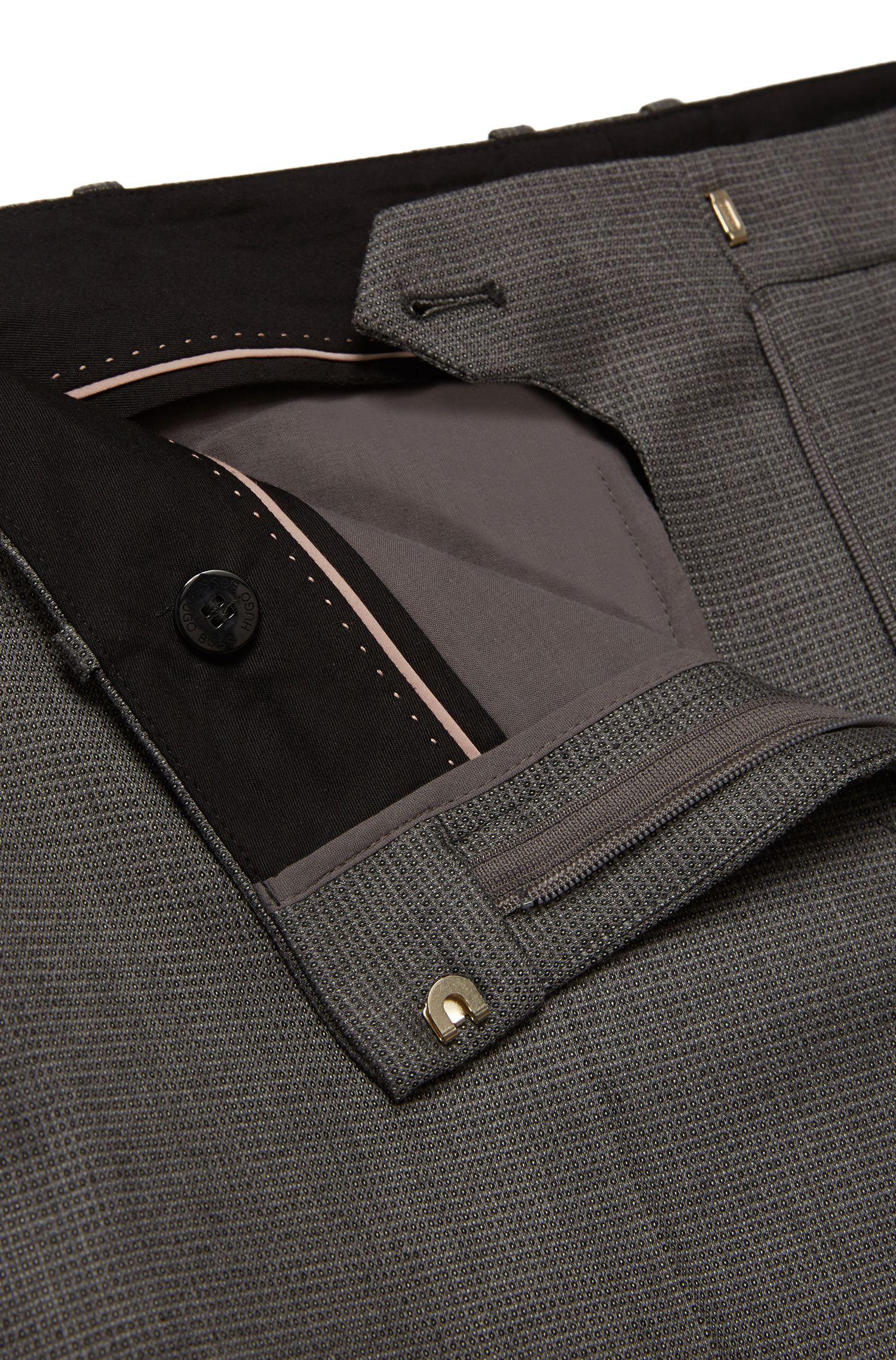 Regular-fit broek van een scheerwolmix met scherpe vouwen: 'Tamea1'